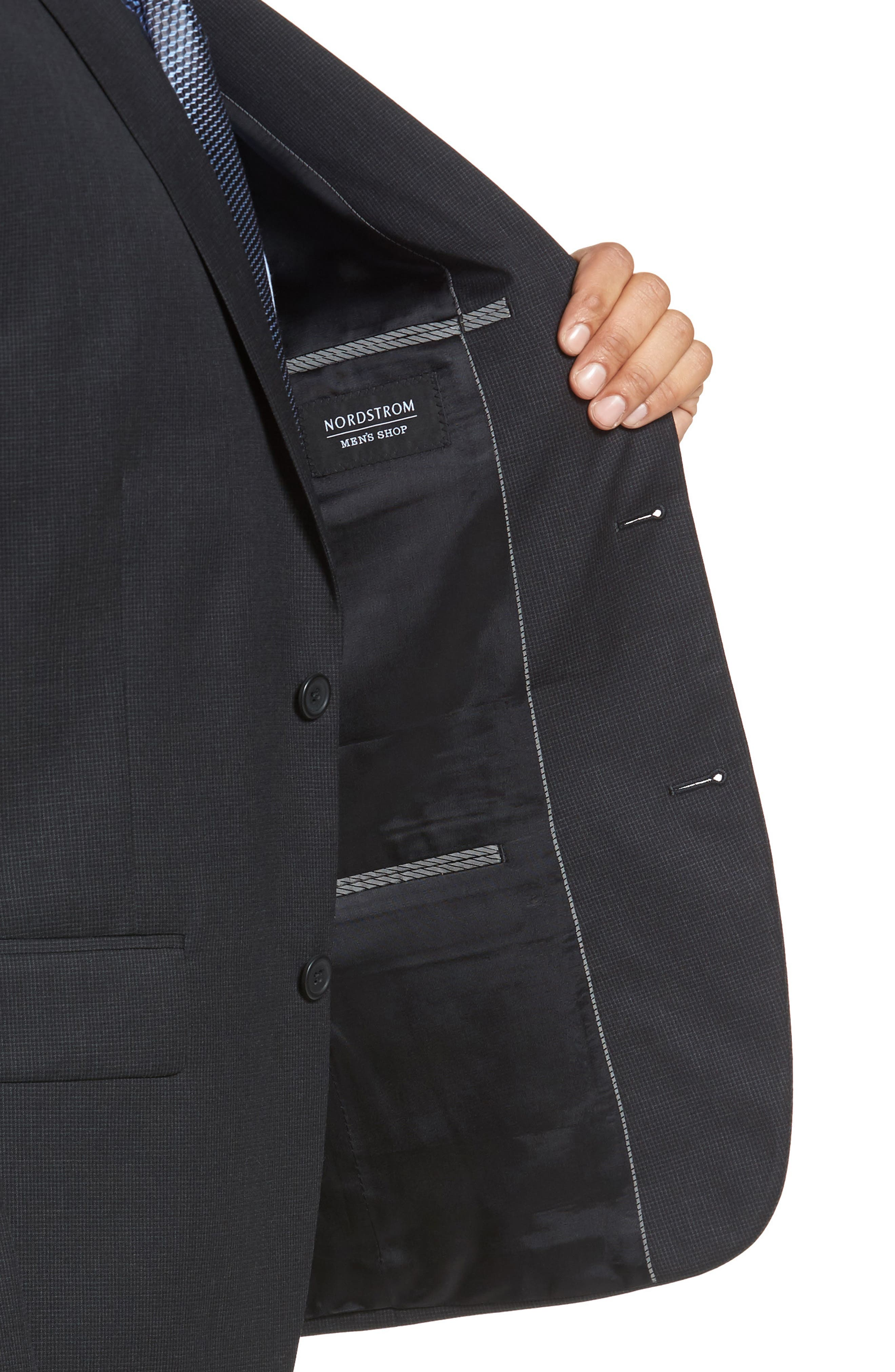 Classic Fit Check Wool Suit,                             Alternate thumbnail 13, color,