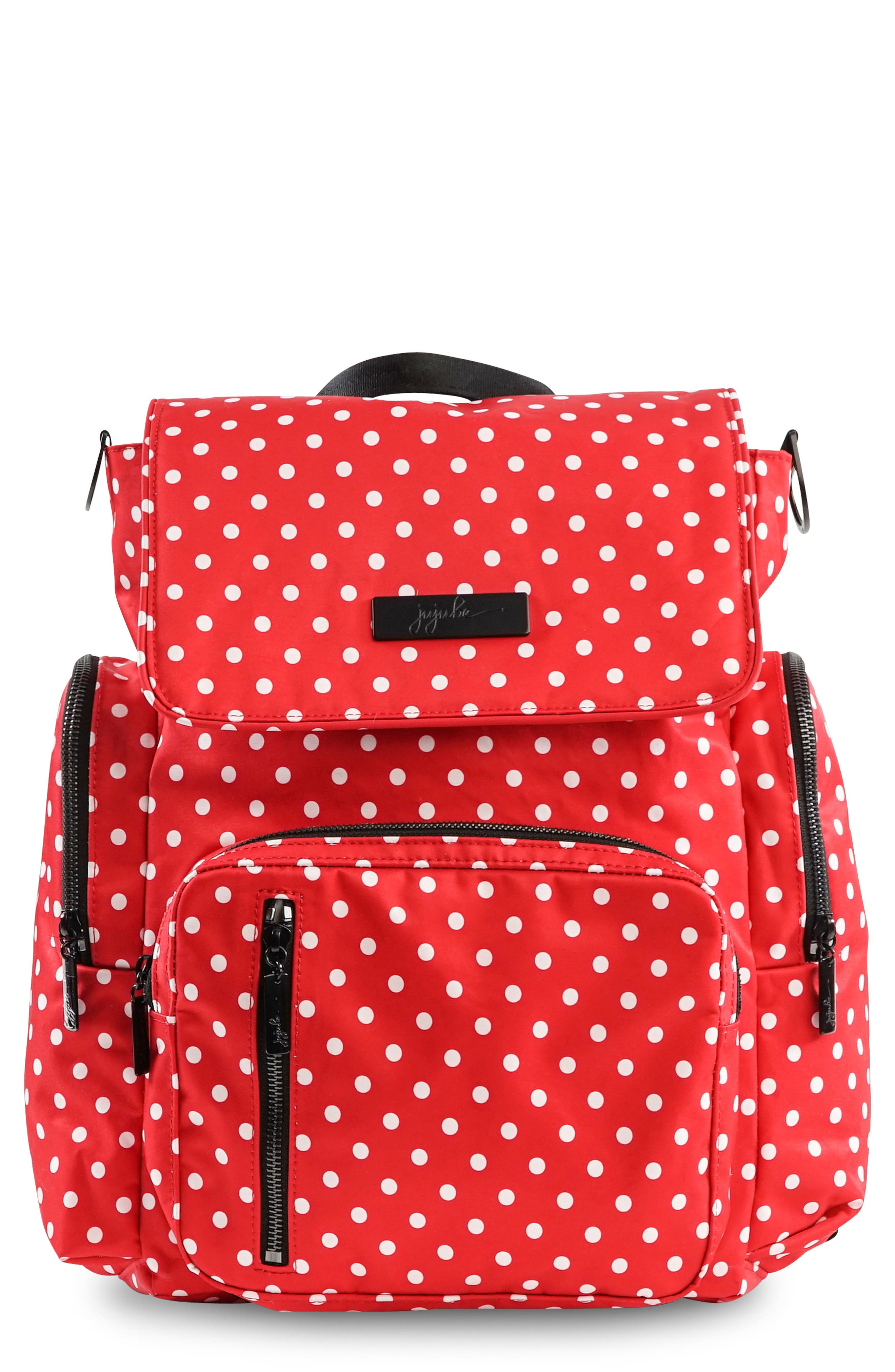 Onyx Be Sporty Diaper Backpack,                             Main thumbnail 1, color,                             BLACK RUBY