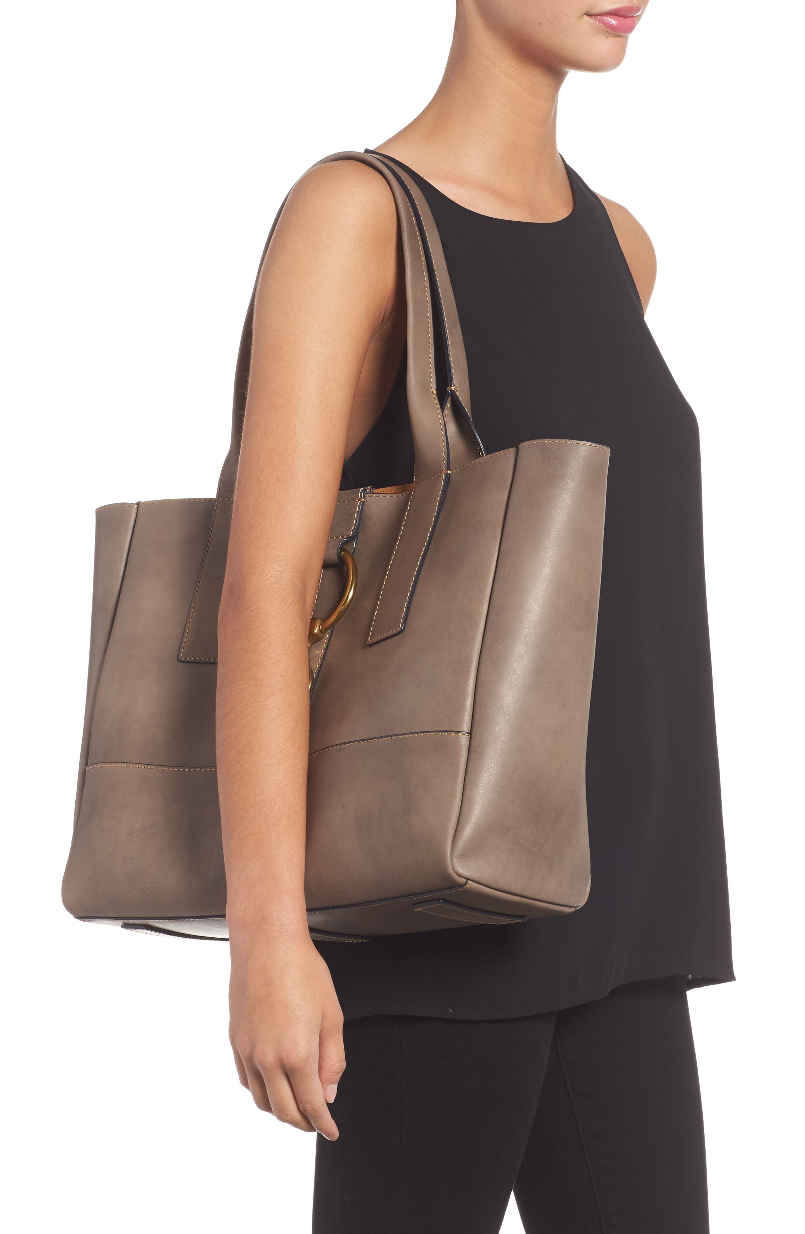 Ilana Harness Leather Shopper,                             Alternate thumbnail 2, color,                             030