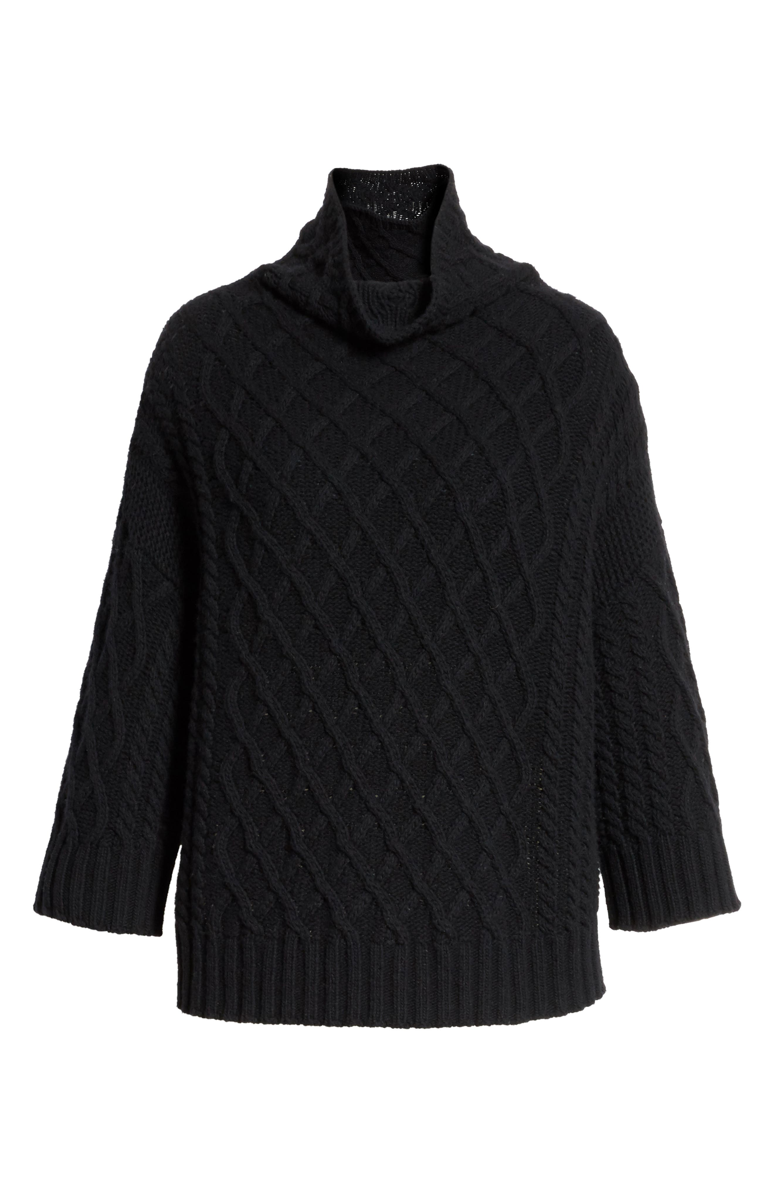 Cantone Wool & Cashmere Funnel Neck Sweater,                             Alternate thumbnail 6, color,