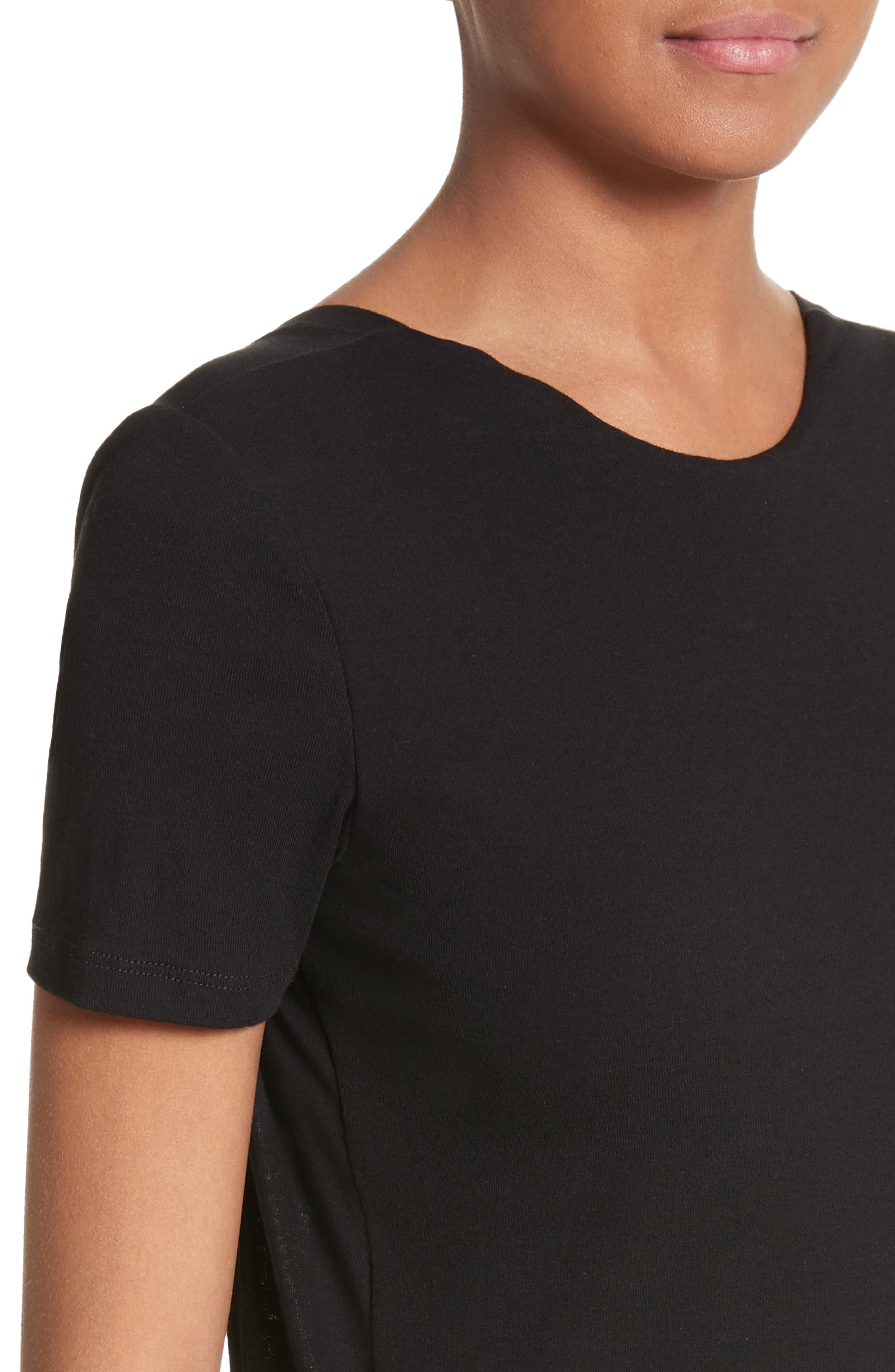 Cotton Jersey Open Back Tee,                             Alternate thumbnail 4, color,                             001