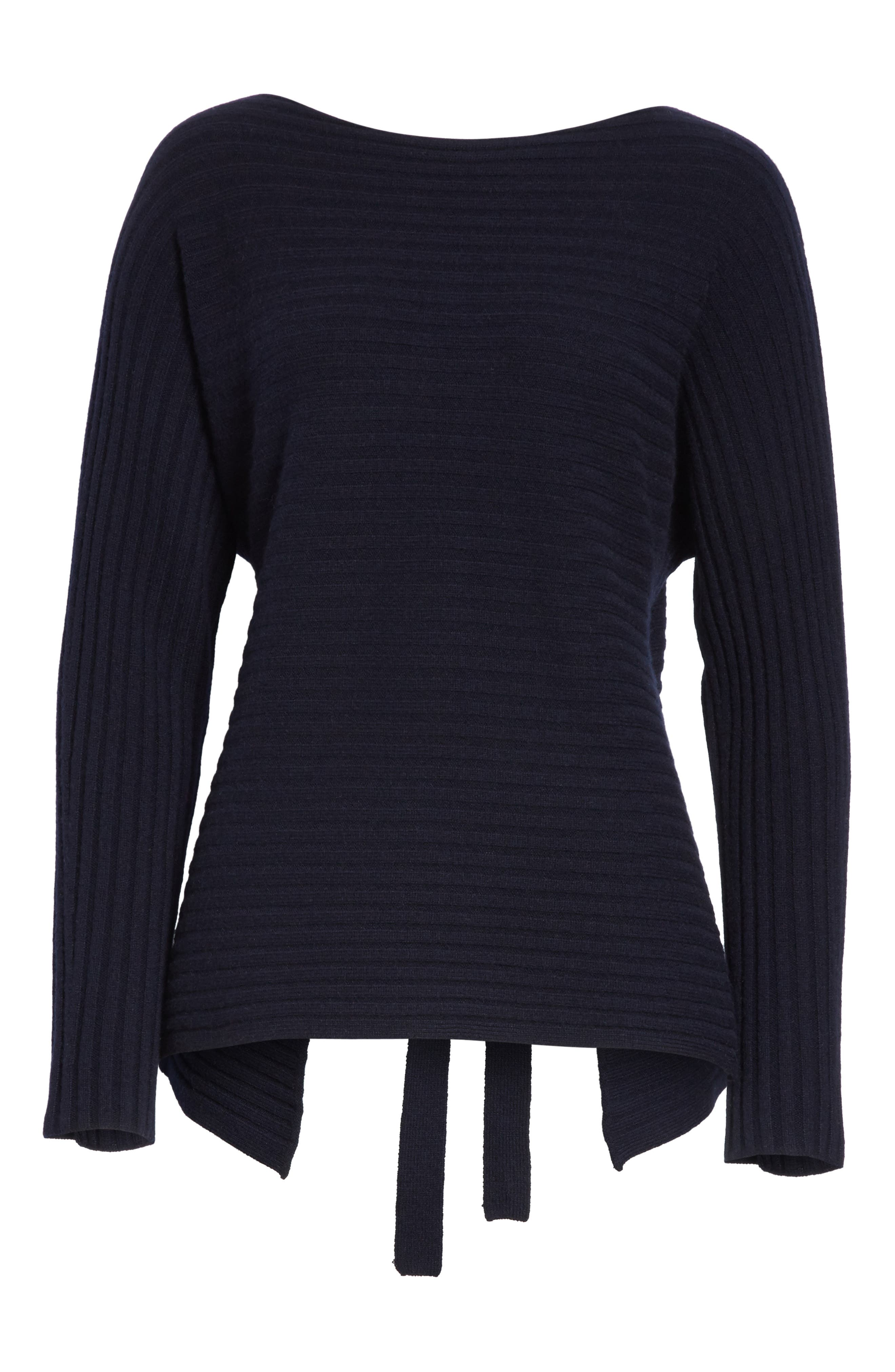 Tie Back Wool & Cashmere Sweater,                             Alternate thumbnail 16, color,