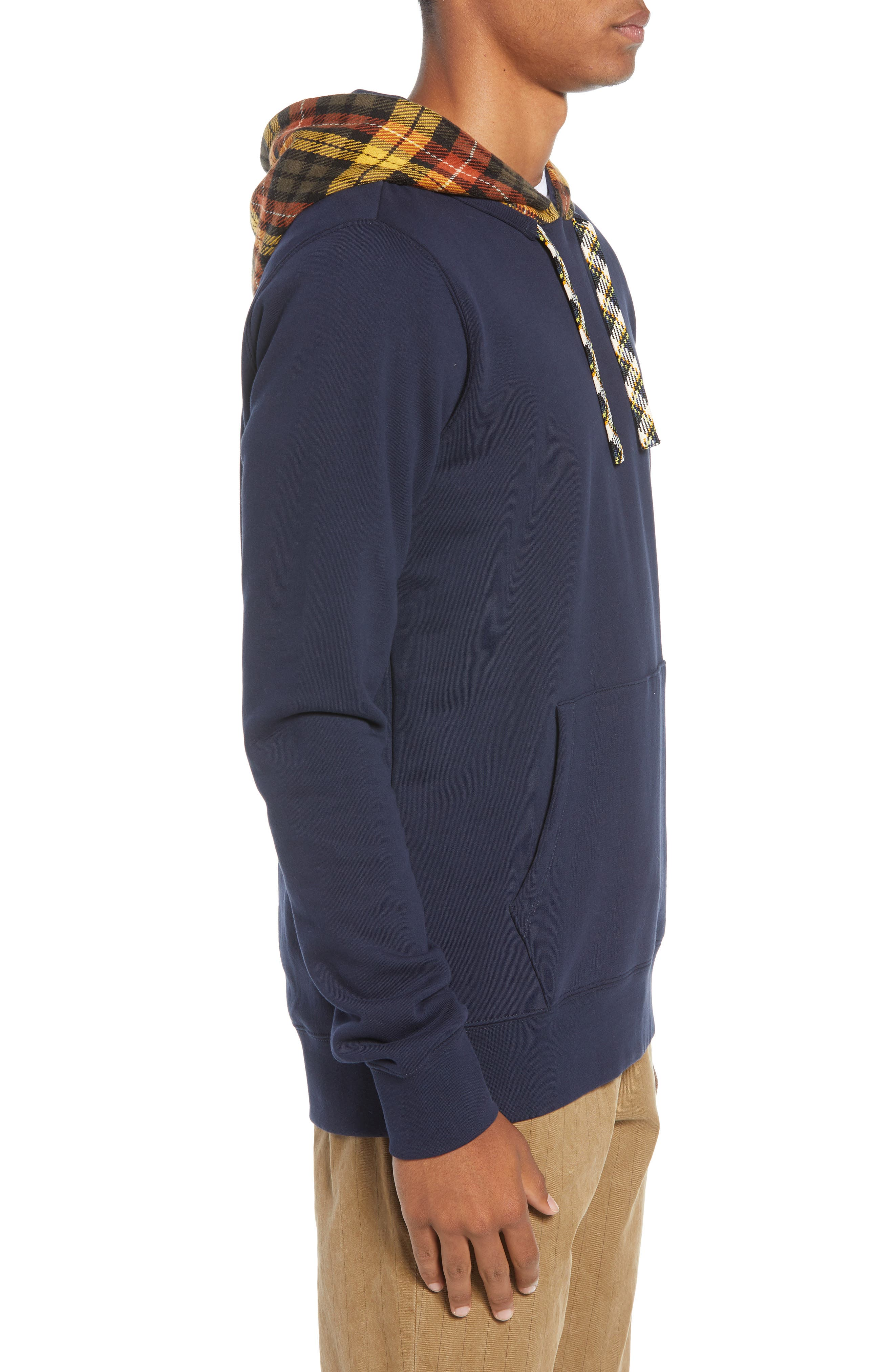 Contrast Hooded Pullover,                             Alternate thumbnail 3, color,                             COMBO A