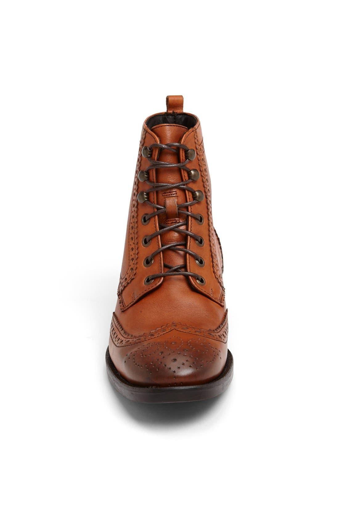 'Hattington' Wingtip Boot,                             Alternate thumbnail 4, color,                             240