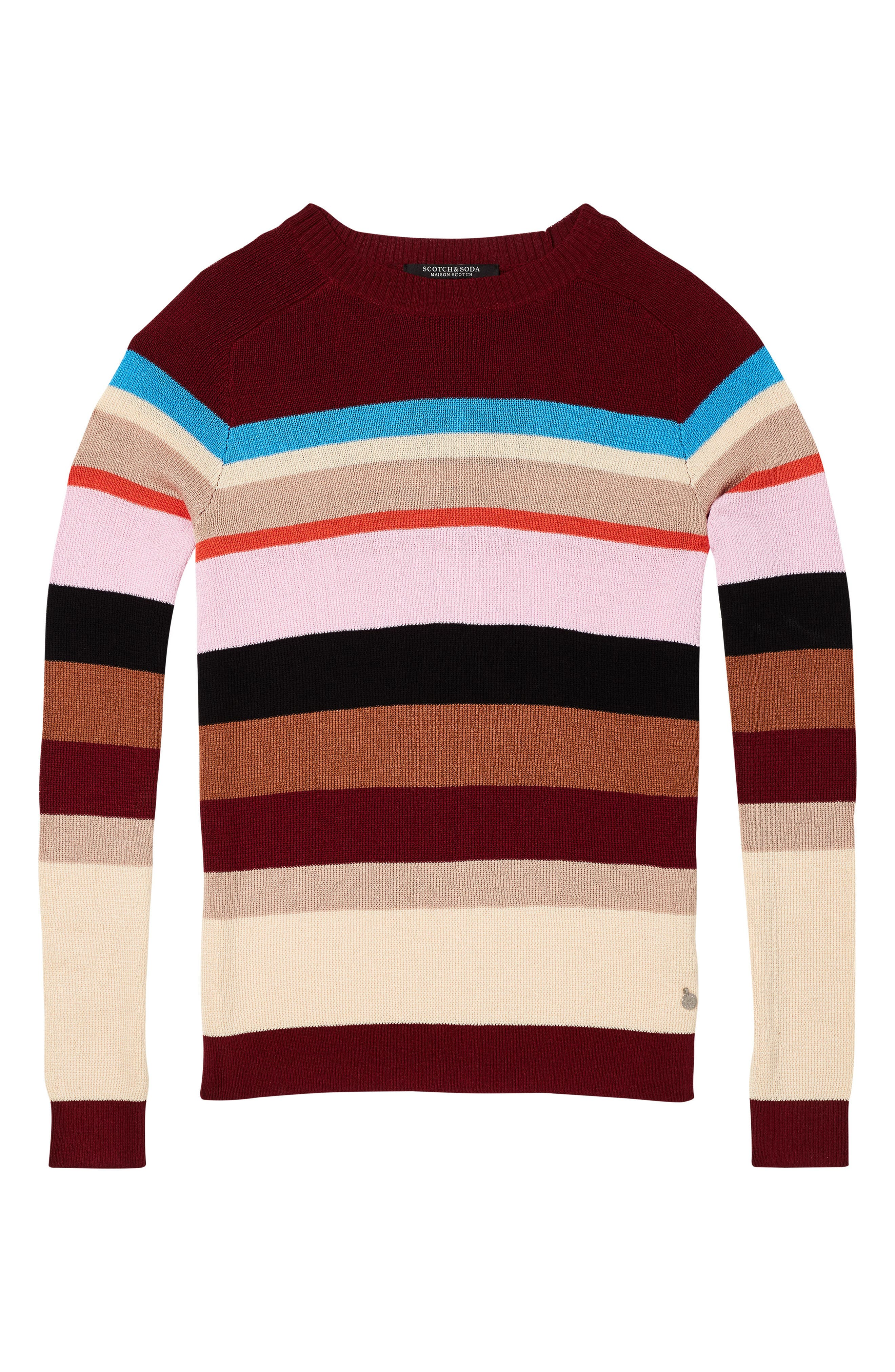 Colorful Stripe Sweater,                             Alternate thumbnail 5, color,                             601