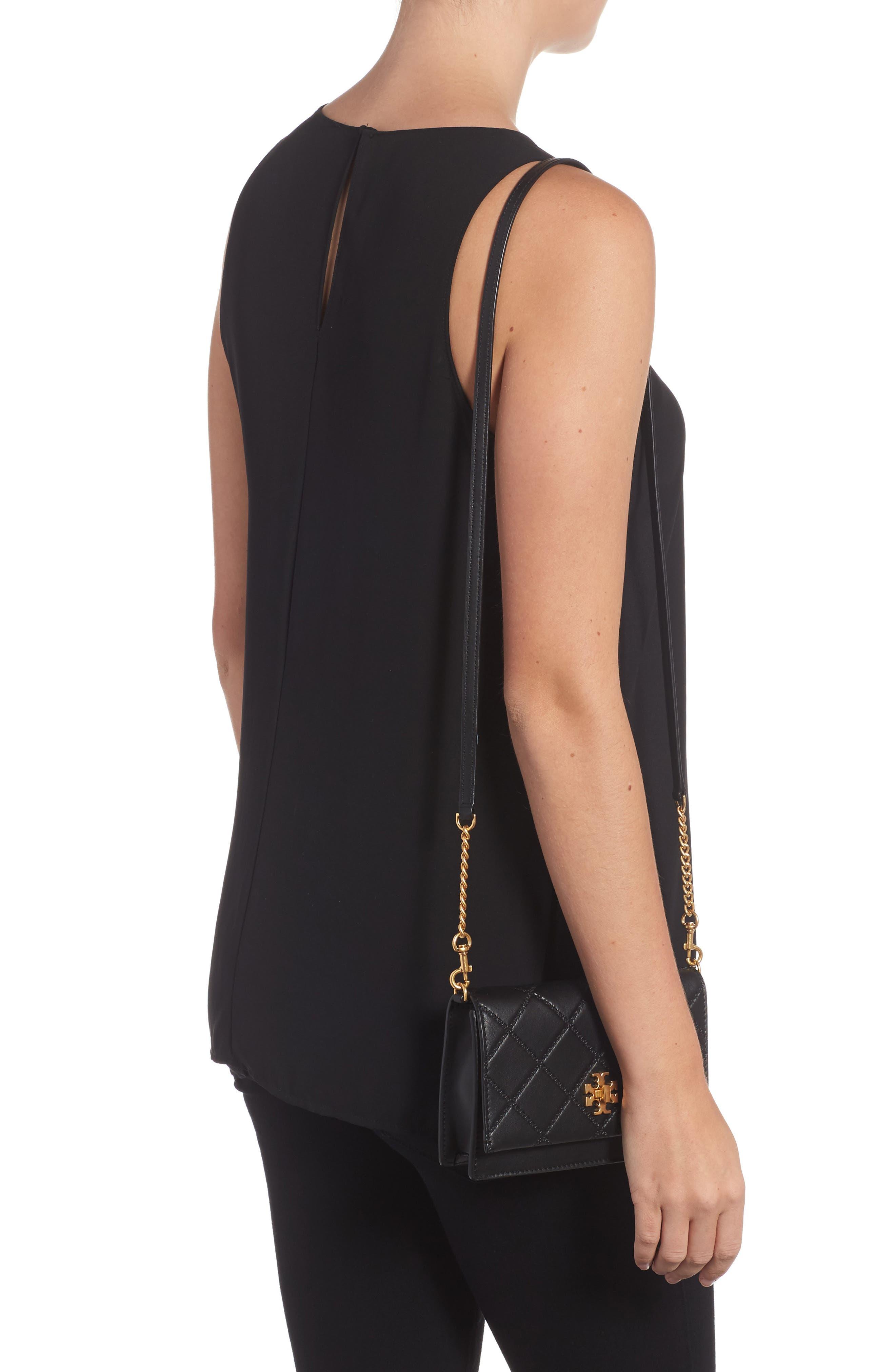 Mini Georgia Quilted Leather Shoulder Bag,                             Alternate thumbnail 2, color,                             001