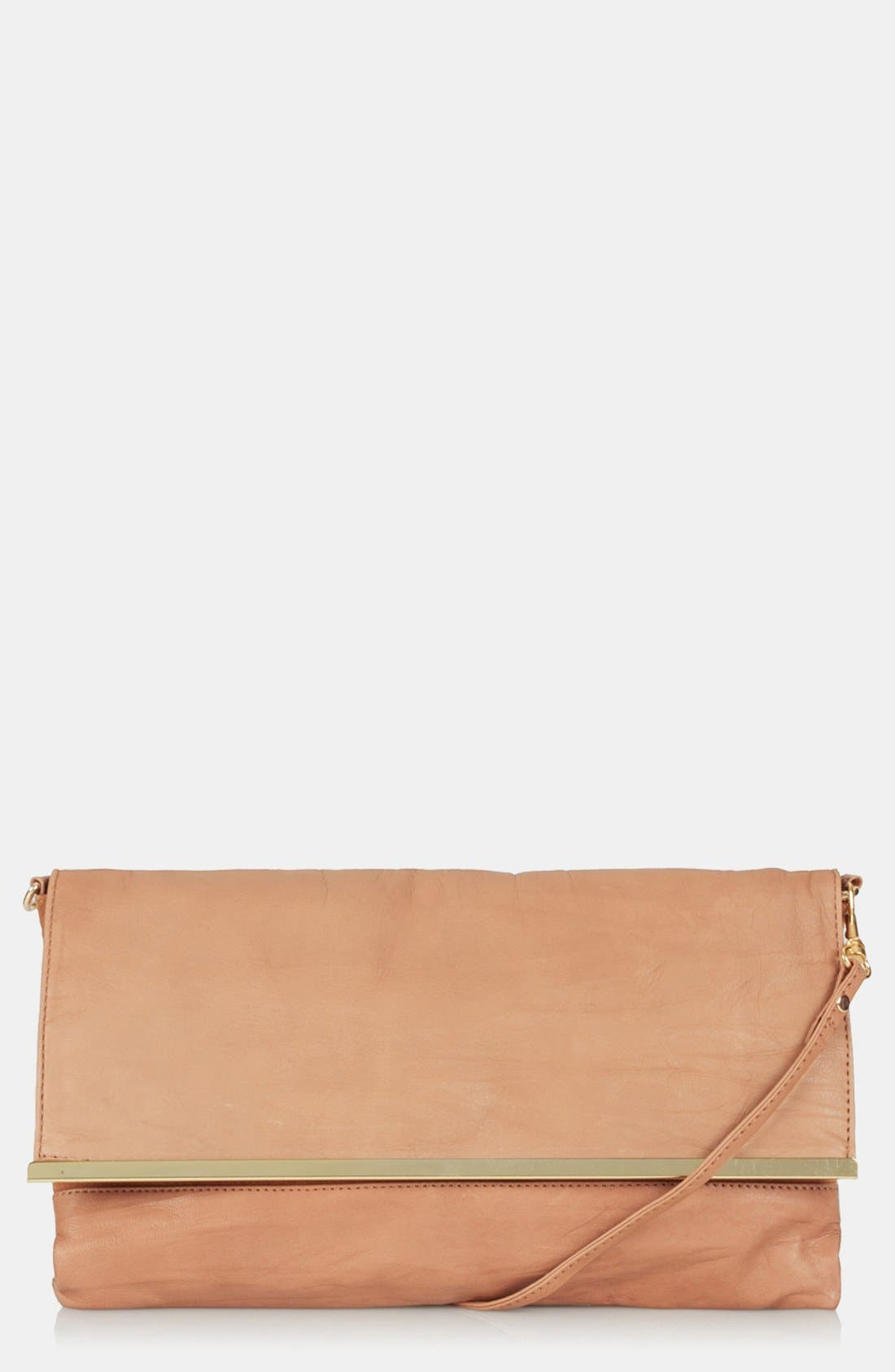 Leather Clutch,                         Main,                         color, 210