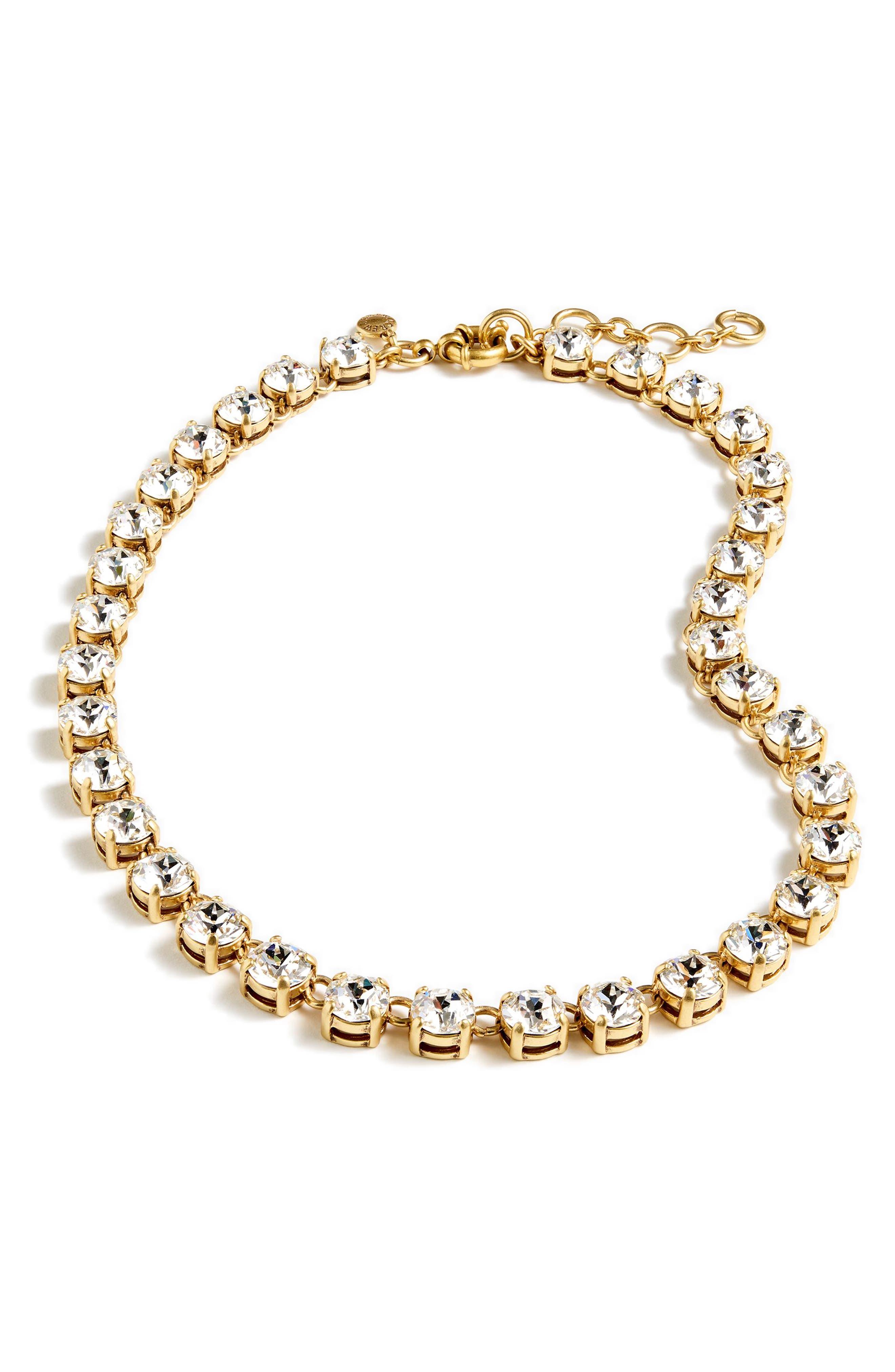 Swarovski Crystal Dot Necklace,                             Main thumbnail 1, color,                             040