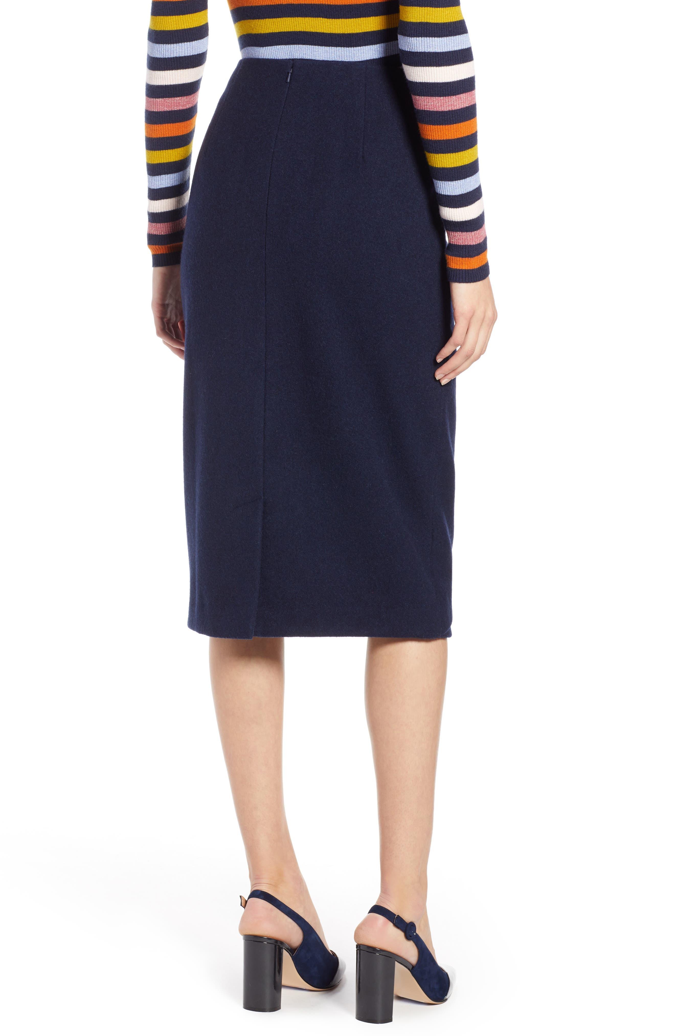 x Atlantic-Pacific Wrap Pencil Skirt,                             Alternate thumbnail 2, color,                             NAVY BLAZER