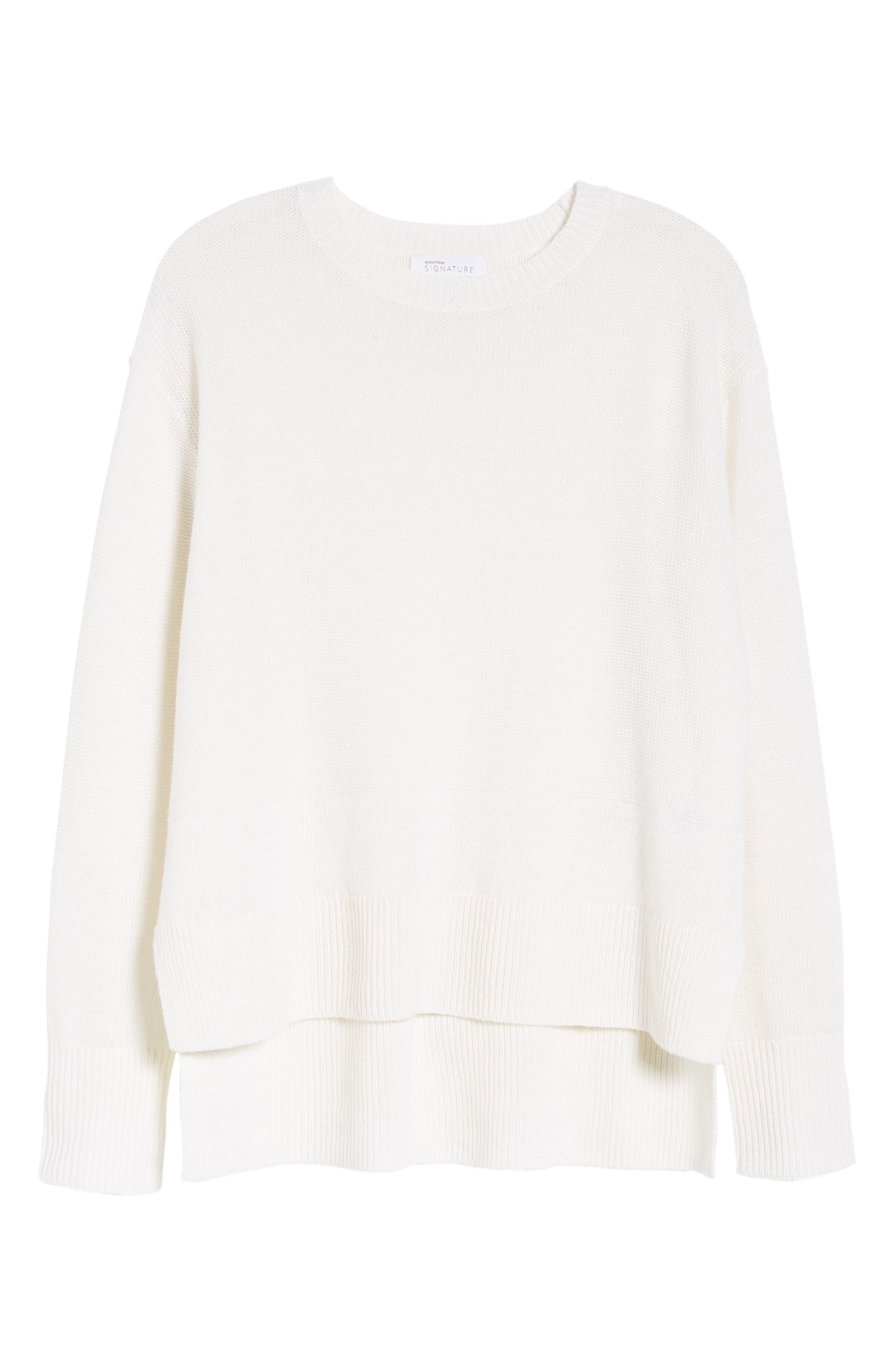 Linen & Cashmere Sweater,                             Alternate thumbnail 12, color,