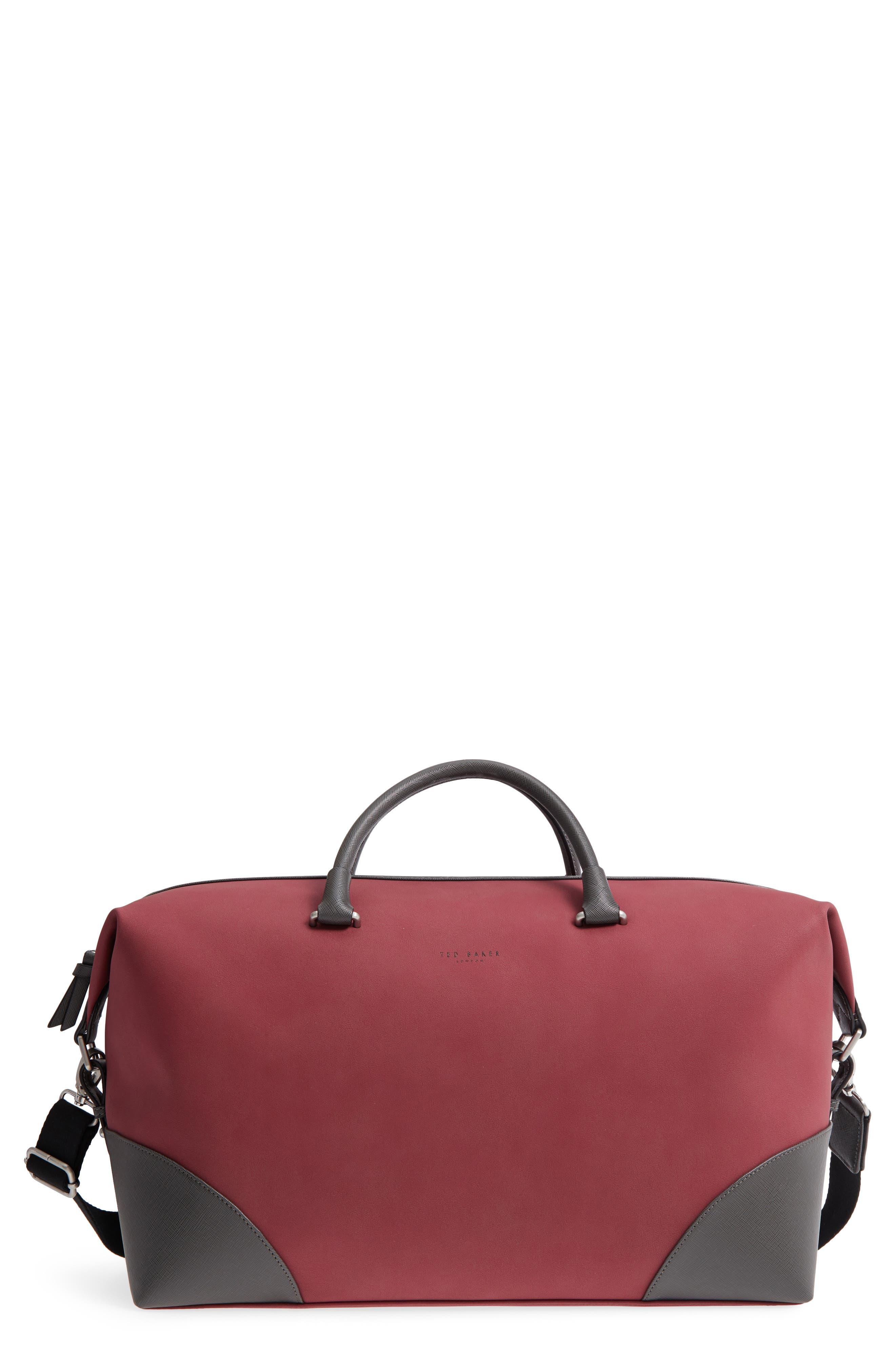 Swipes Duffel Bag,                         Main,                         color, RED