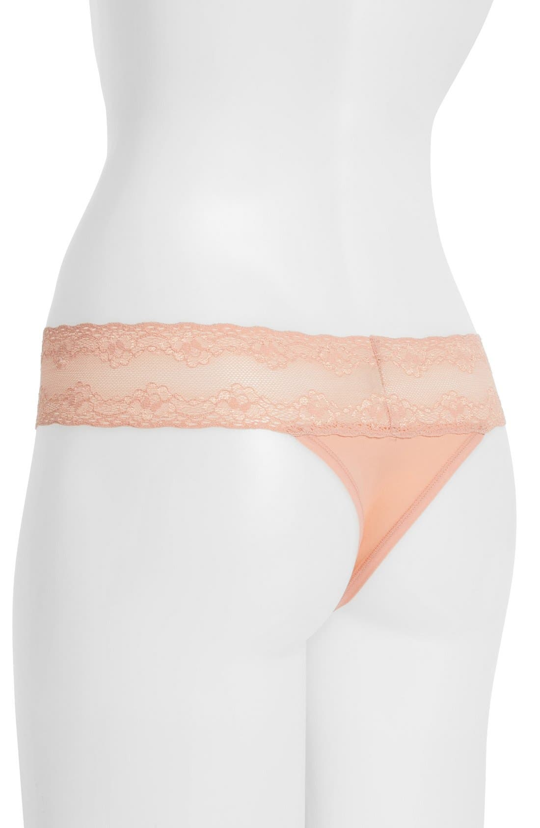 Bliss Perfection Thong,                             Alternate thumbnail 345, color,