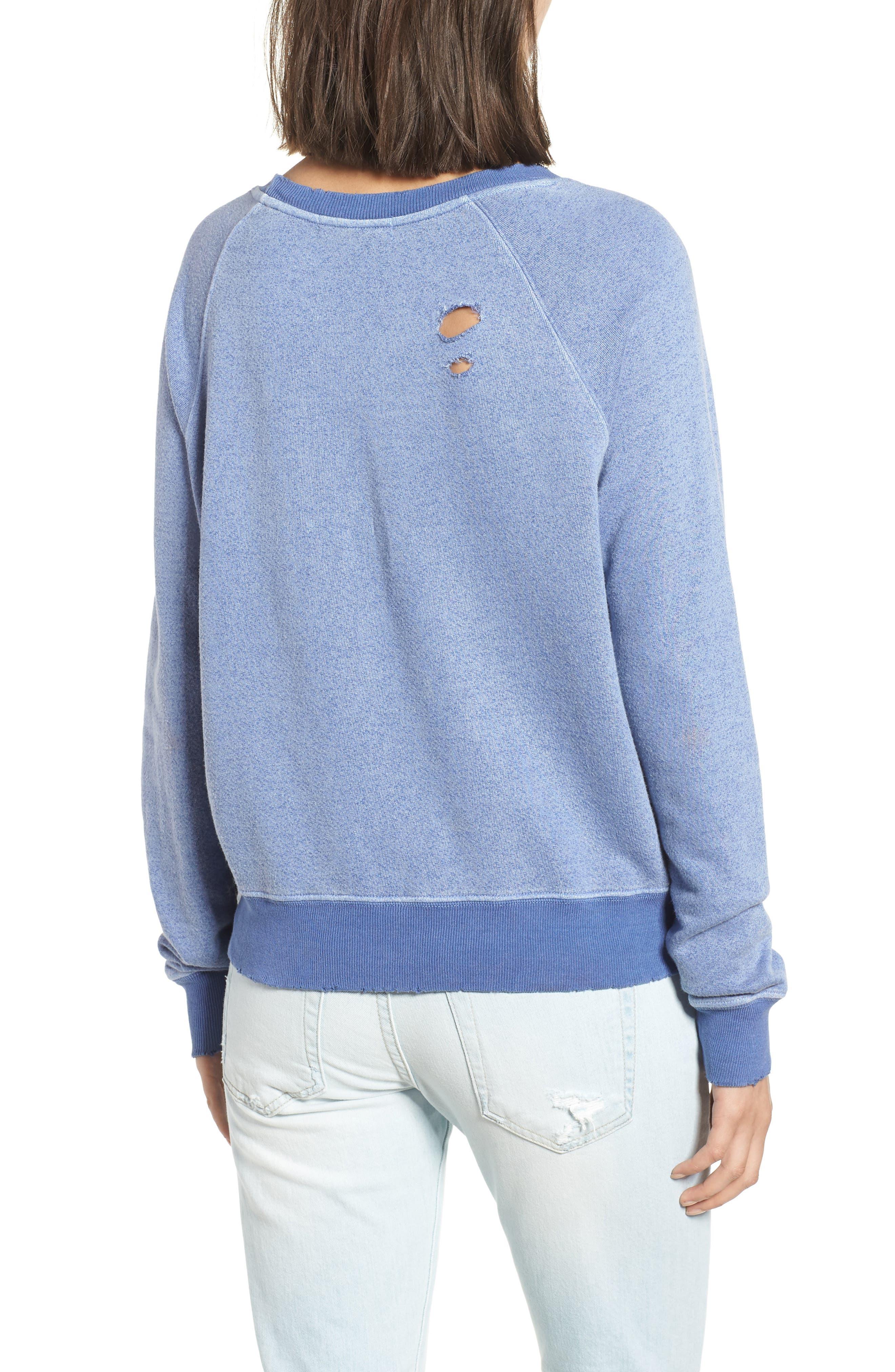 Belize Deconstructed Sweatshirt,                             Alternate thumbnail 2, color,                             COBALT