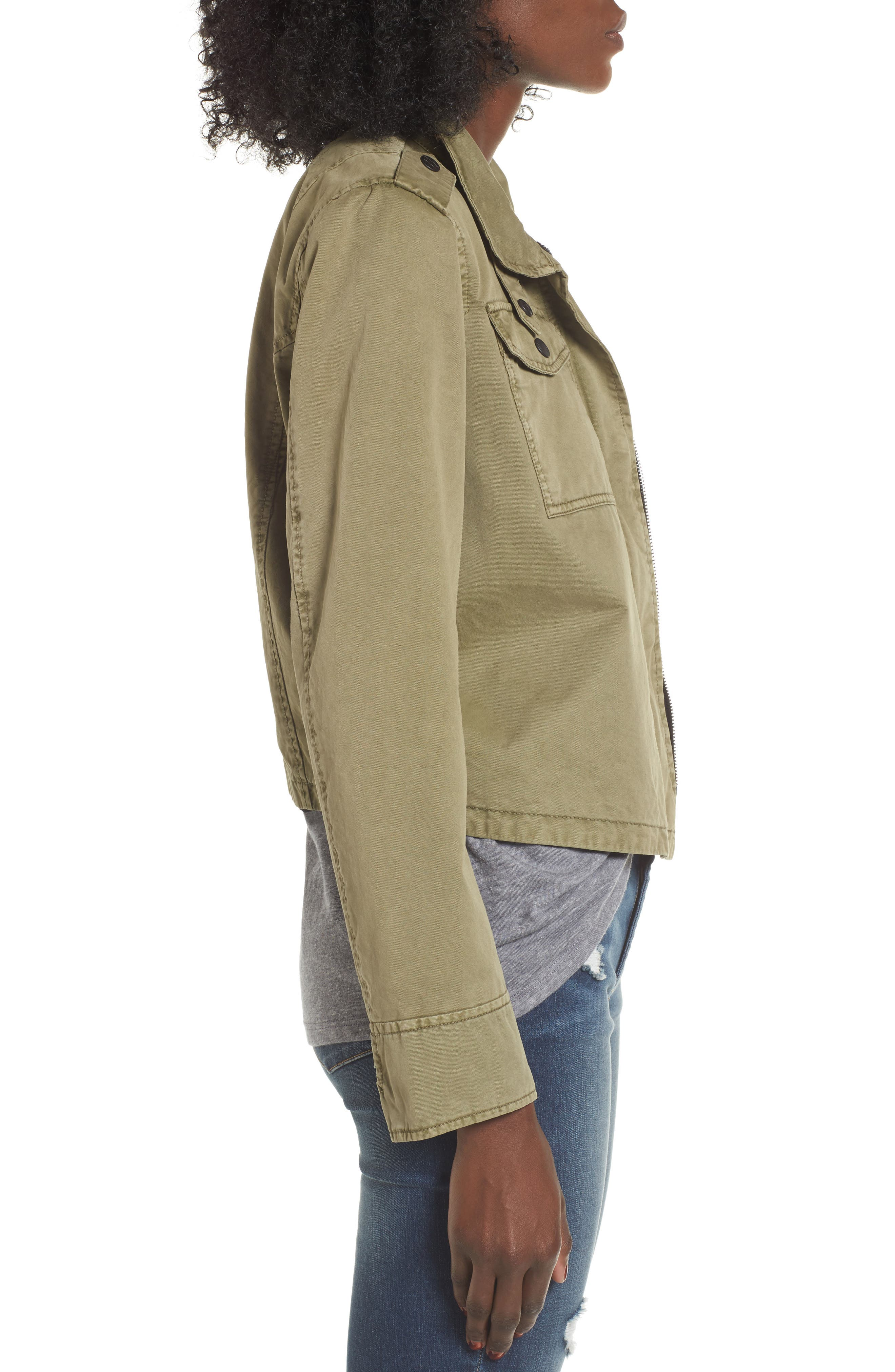 Crop Military Jacket,                             Alternate thumbnail 16, color,