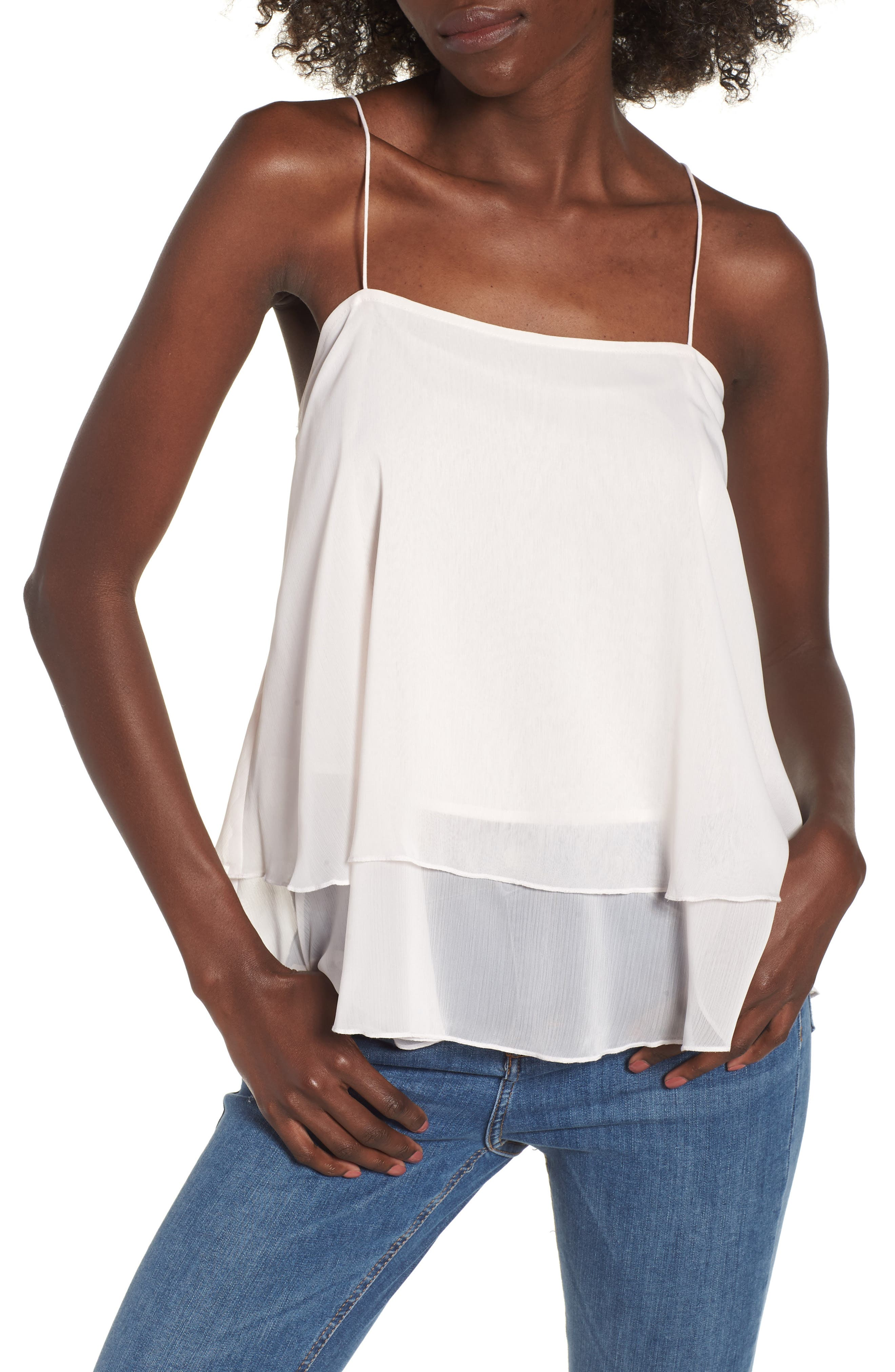 Tiered Chiffon Camisole,                             Main thumbnail 2, color,