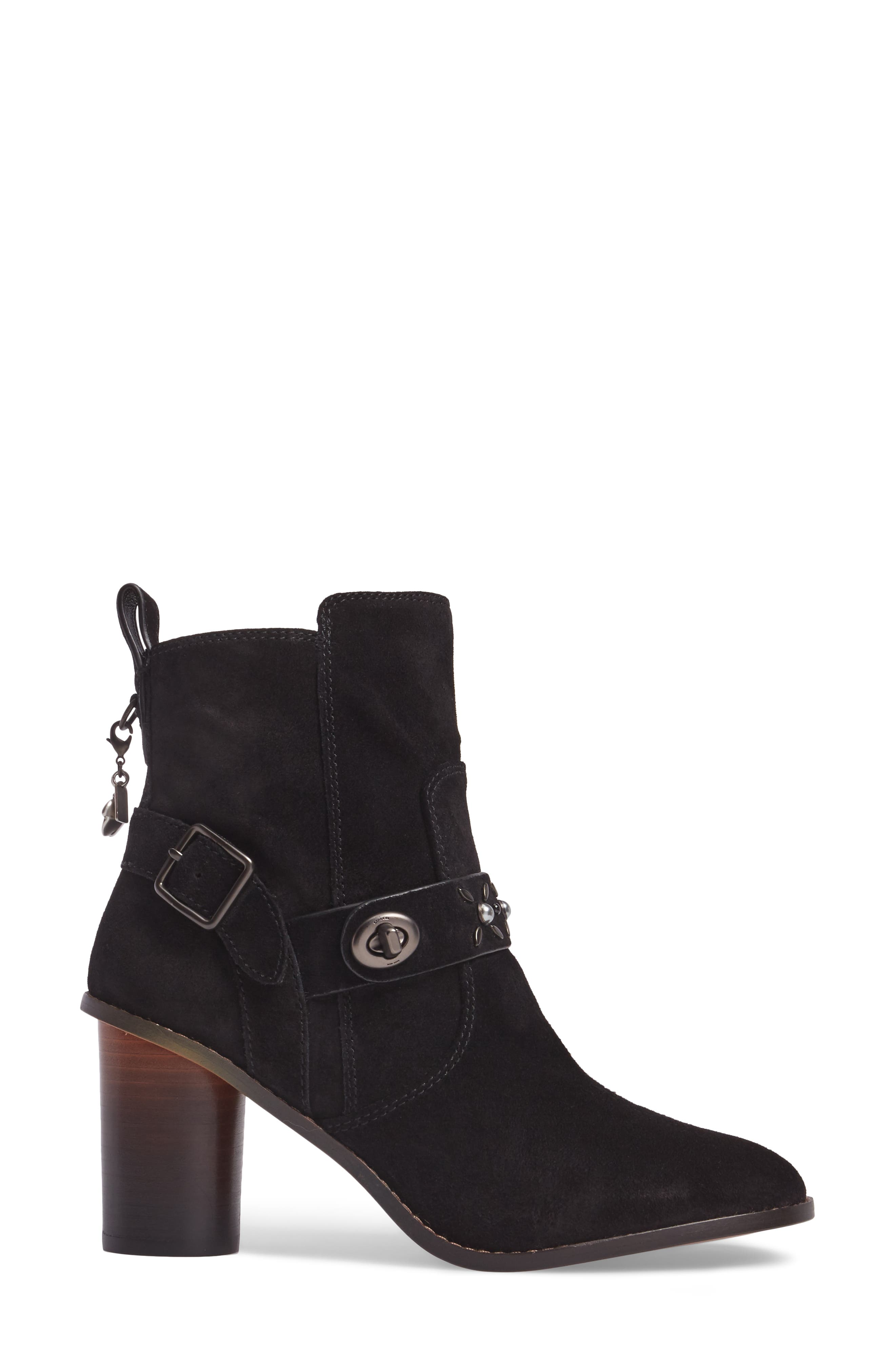 Studded Western Boot,                             Alternate thumbnail 3, color,                             001