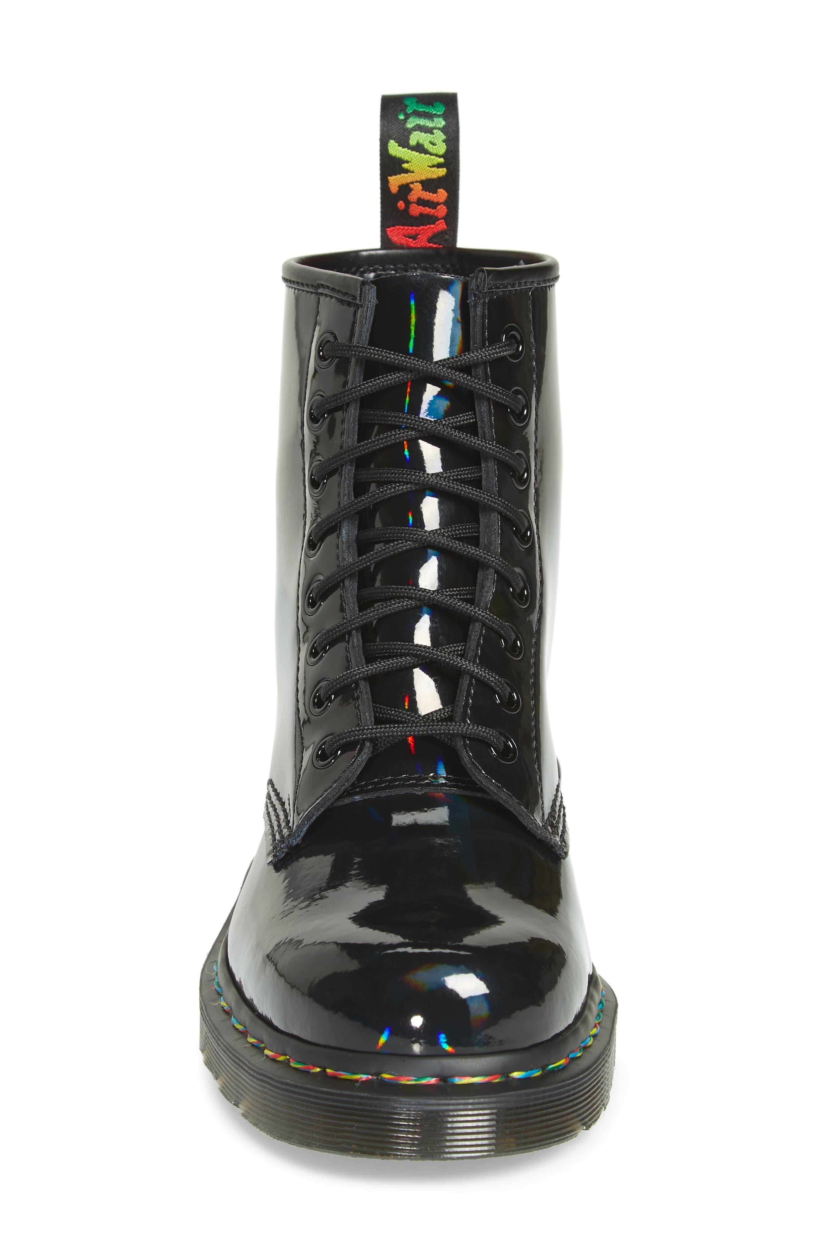 1460 Rainbow Patent Boot,                             Alternate thumbnail 4, color,                             001