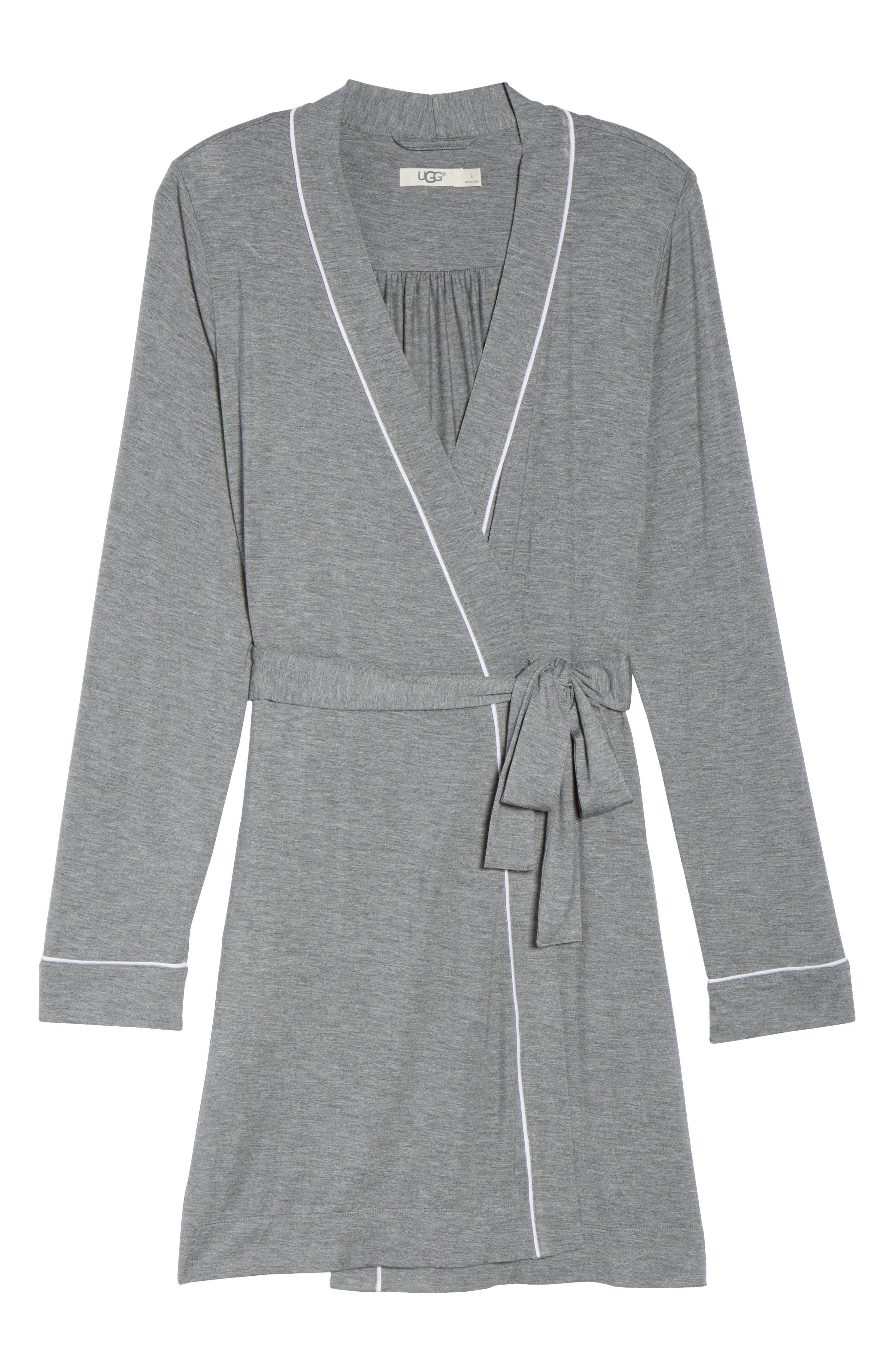 Aldridge Short Robe,                             Alternate thumbnail 6, color,                             GREY HEATHER