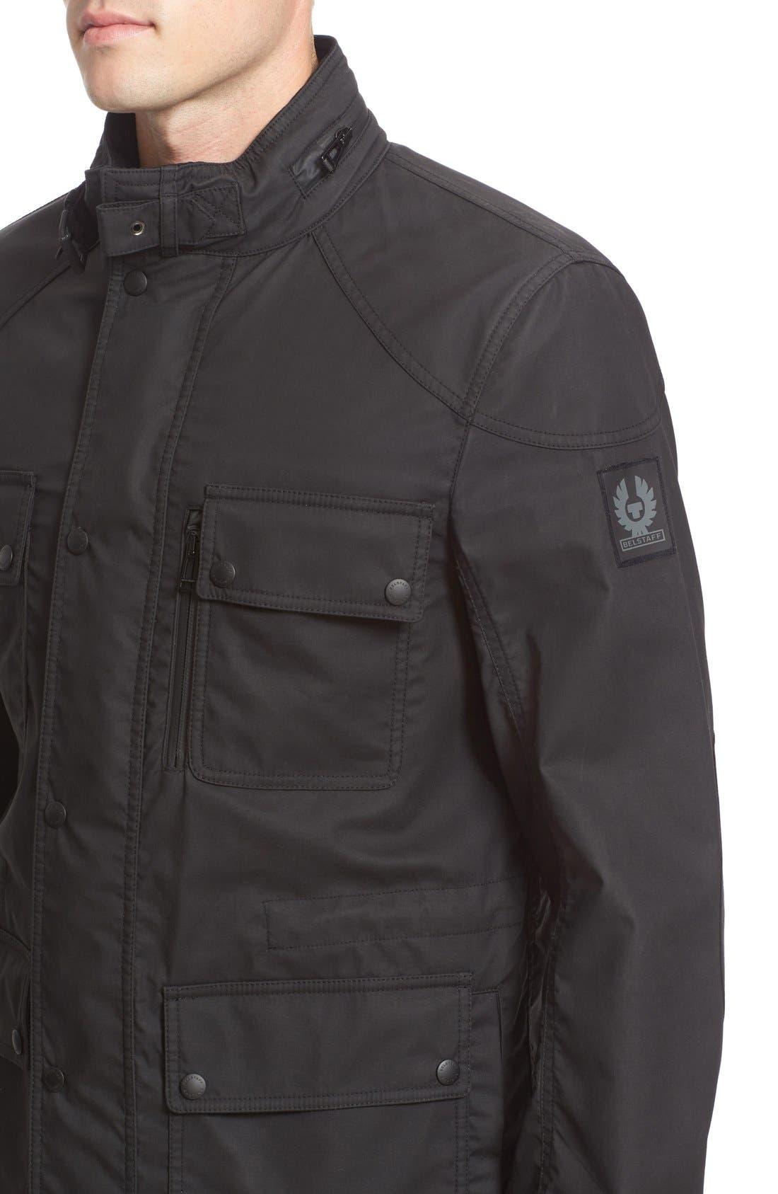 BELSTAFF,                             Trailmaster Staywax Jacket,                             Alternate thumbnail 6, color,                             001