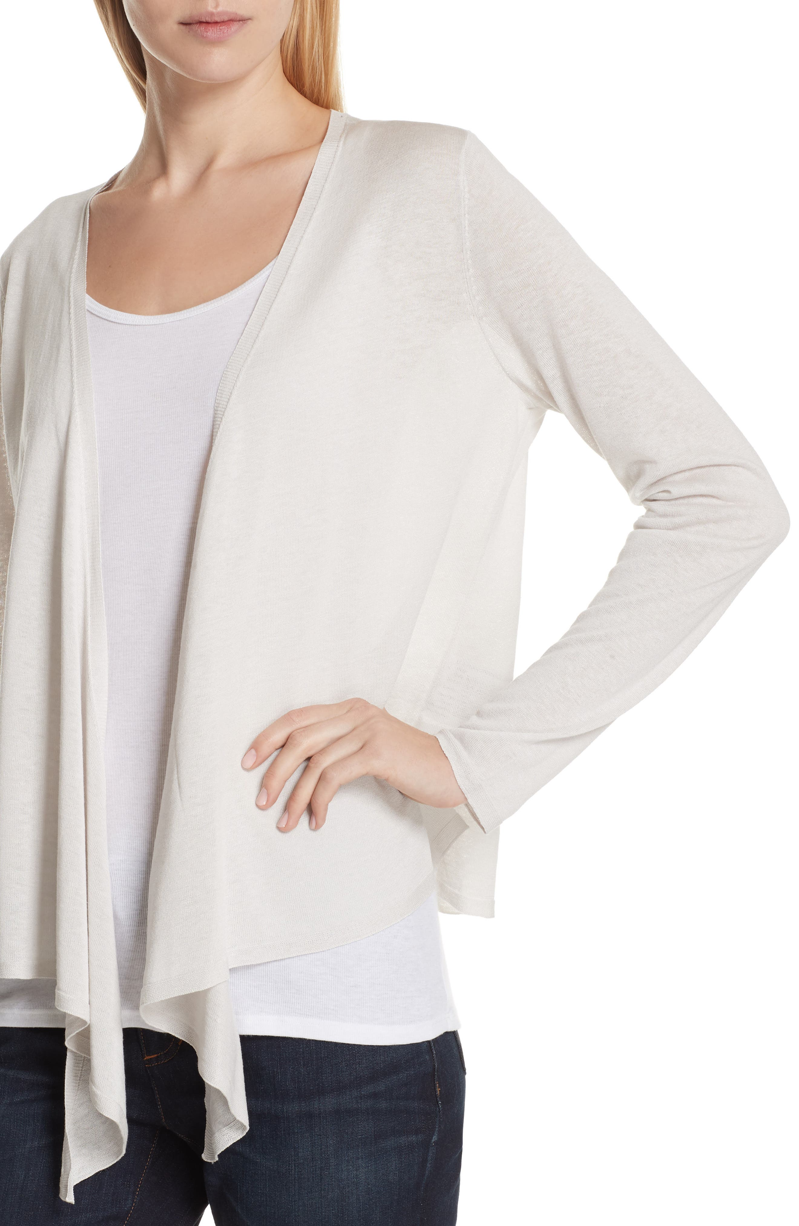 Angle Front Silk Blend Cardigan,                             Alternate thumbnail 8, color,