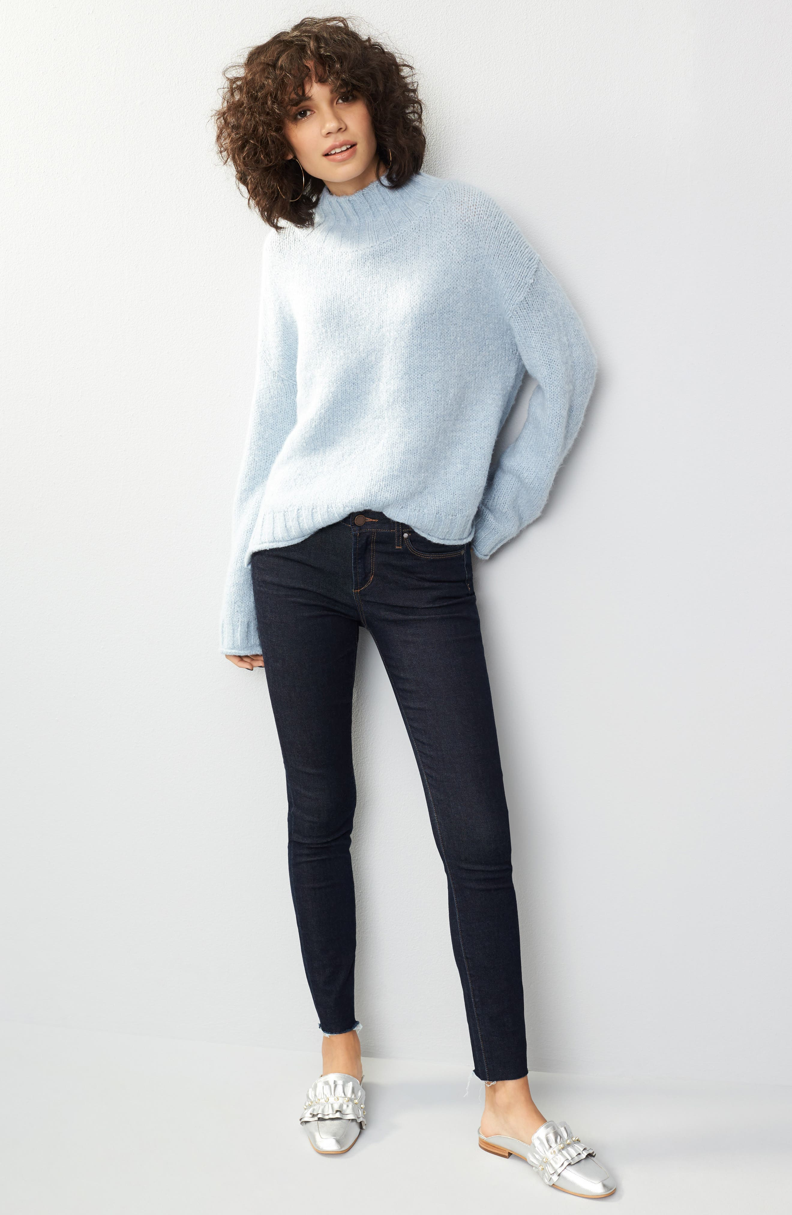 Sarah Ankle Skinny Jeans,                             Alternate thumbnail 7, color,                             495