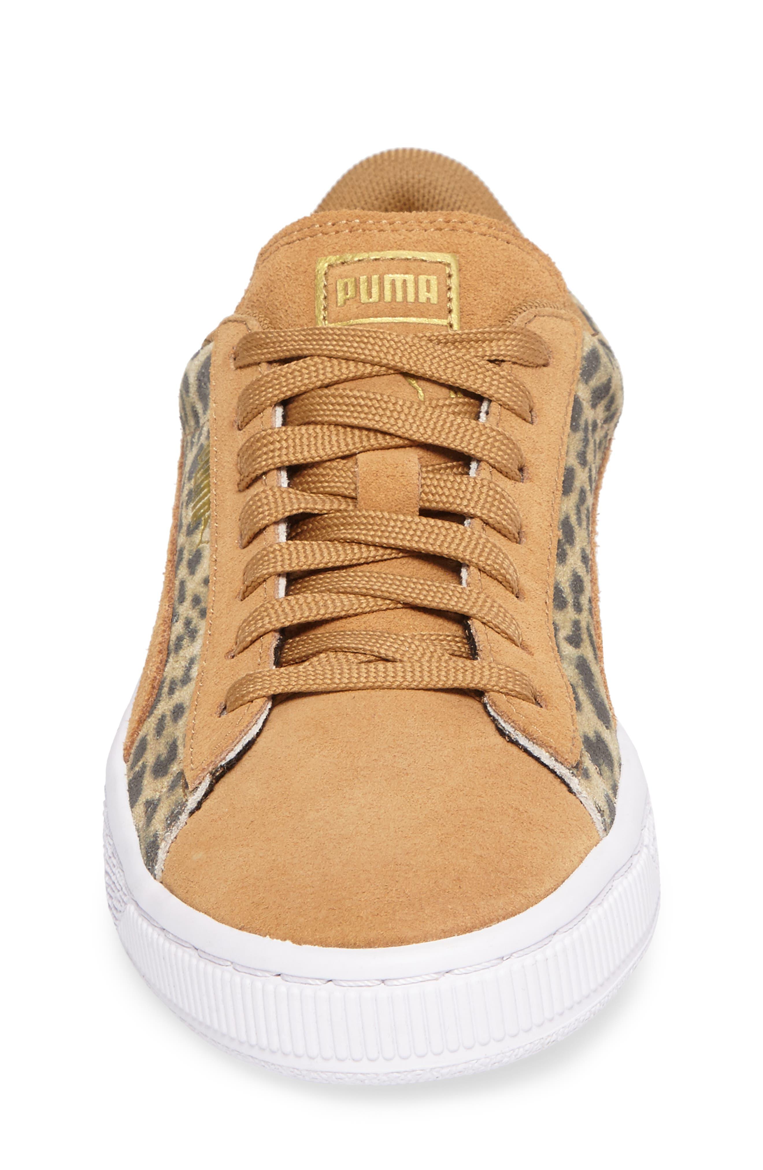 Suede Animal Sneaker,                             Alternate thumbnail 4, color,                             200