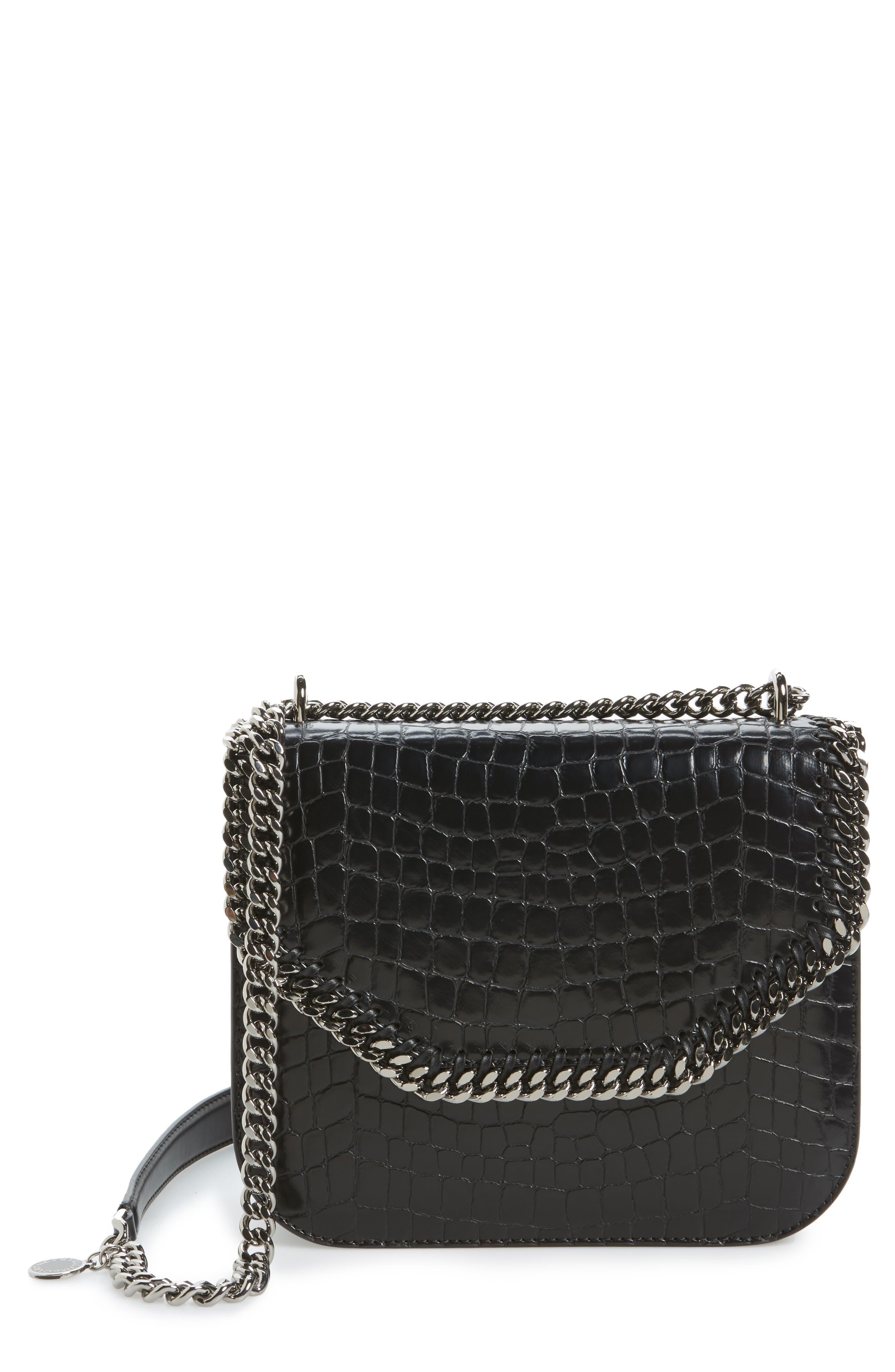 Falabella Box Faux Leather Shoulder Bag,                             Main thumbnail 1, color,