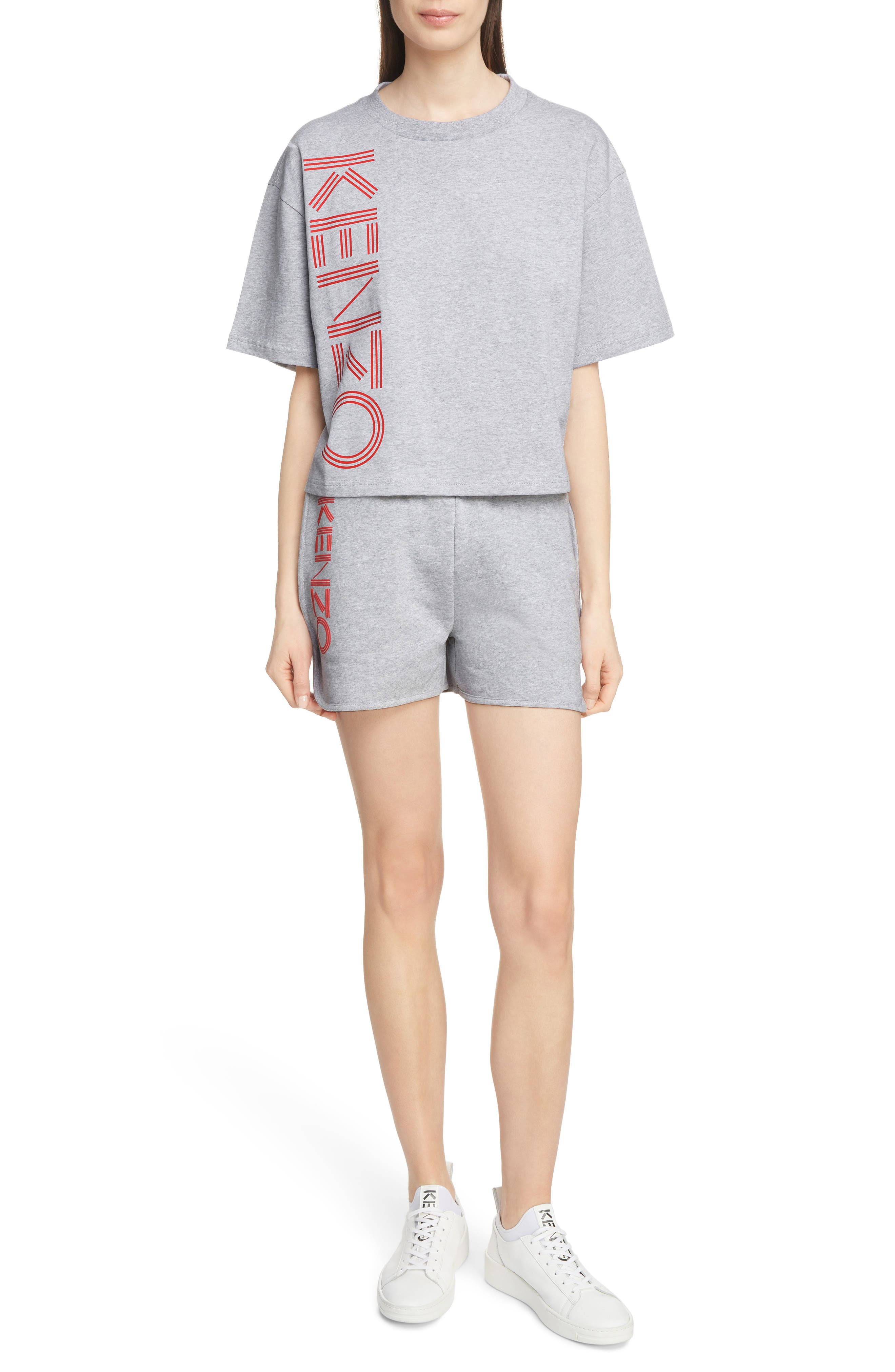 Sport Boxy Tee,                             Alternate thumbnail 6, color,                             PALE GREY