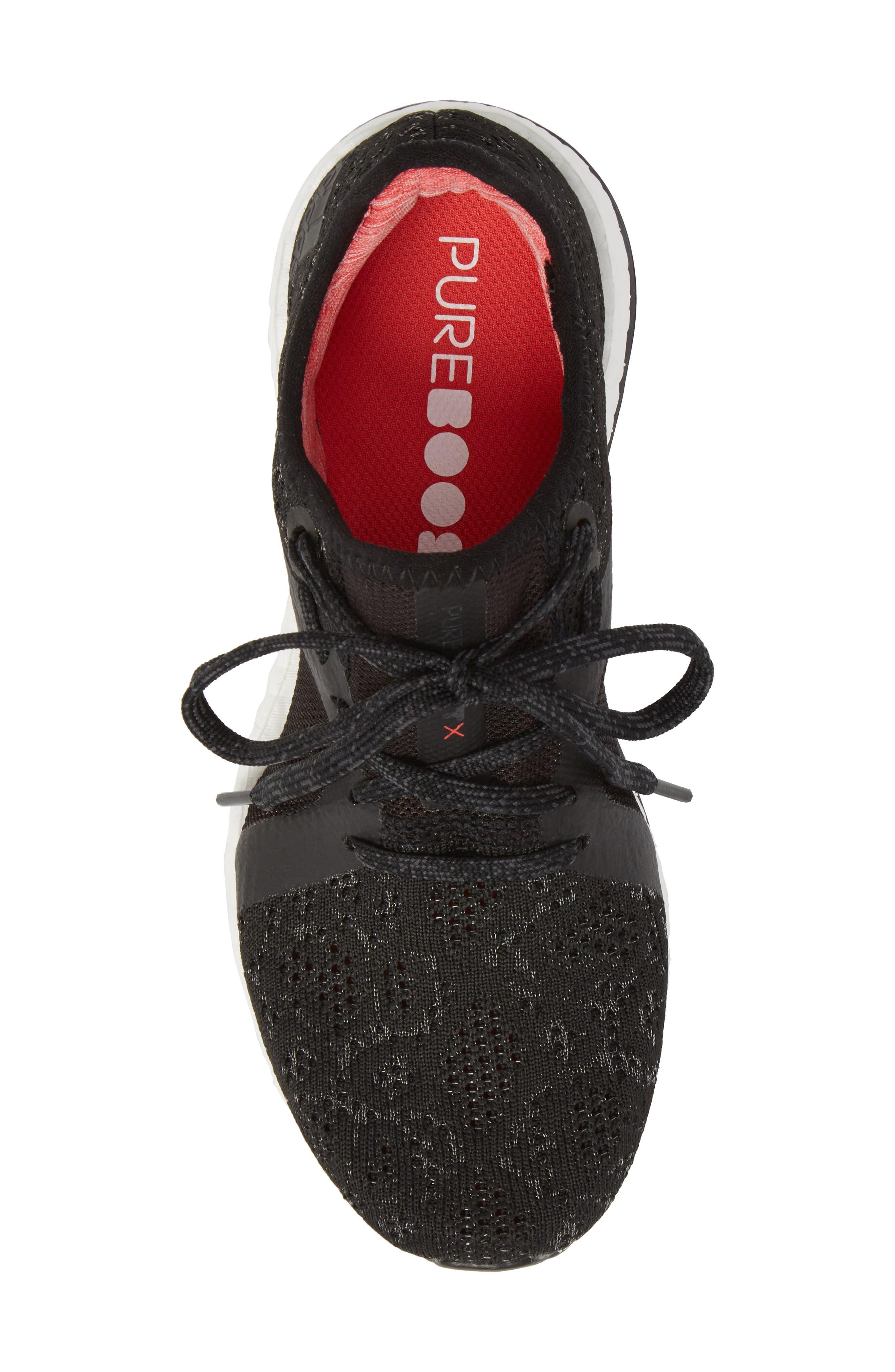 PureBoost X Element Knit Running Shoe,                             Alternate thumbnail 5, color,                             002