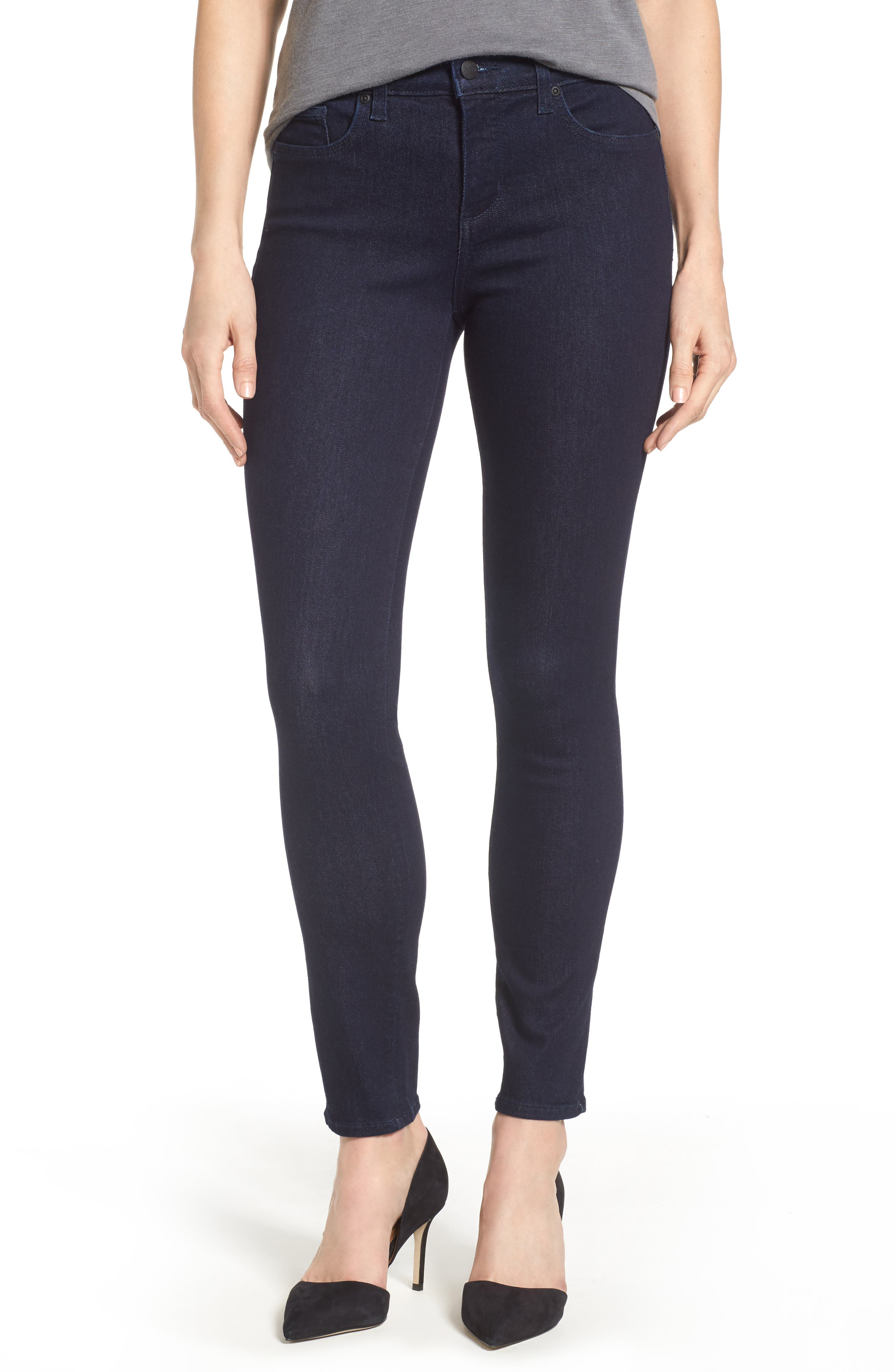 Ami High Waist Stretch Skinny Jeans,                         Main,                         color, RINSE