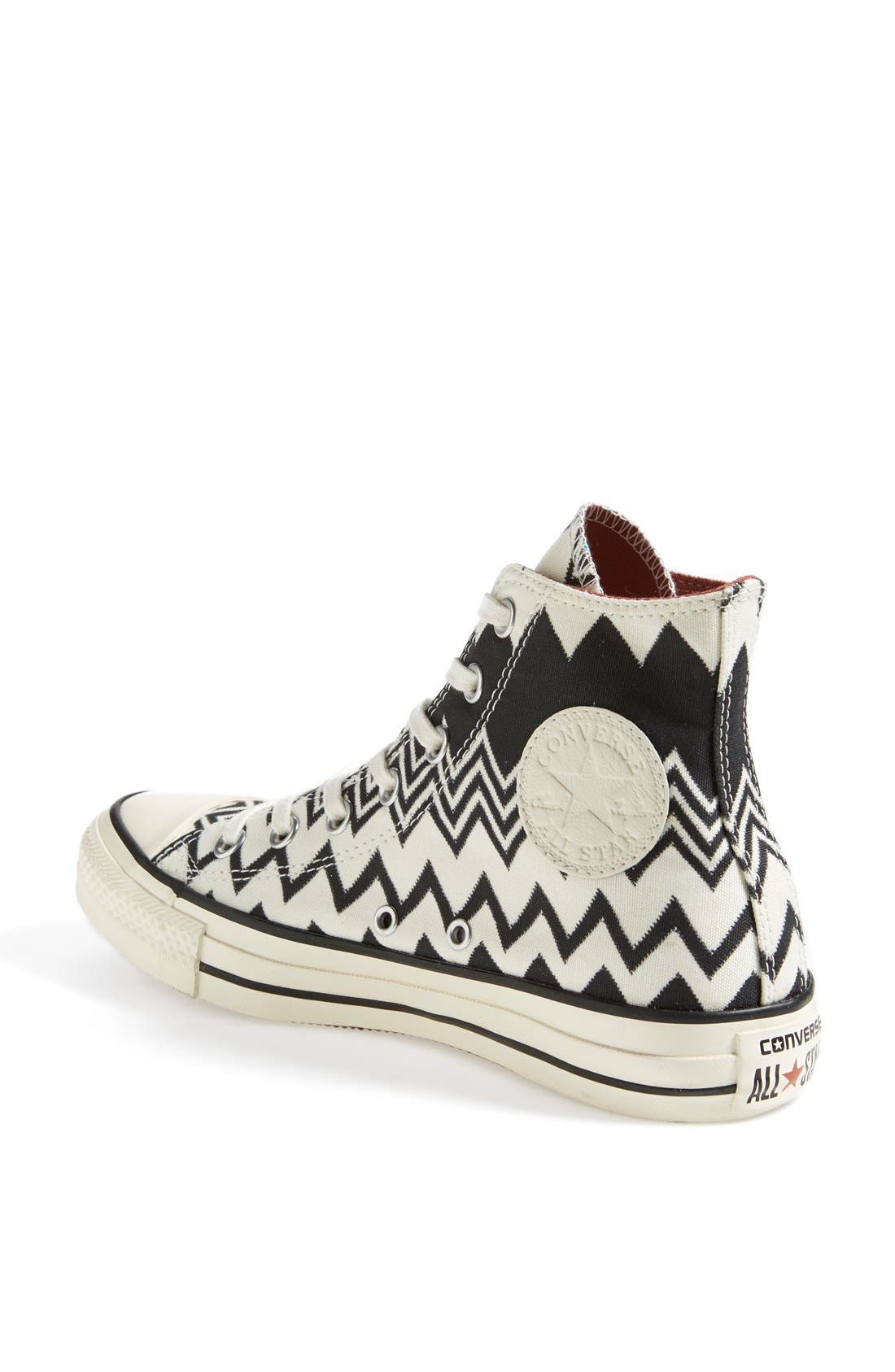 x Missoni Chuck Taylor<sup>®</sup> All Star<sup>®</sup> High Top Sneaker,                             Alternate thumbnail 2, color,                             001