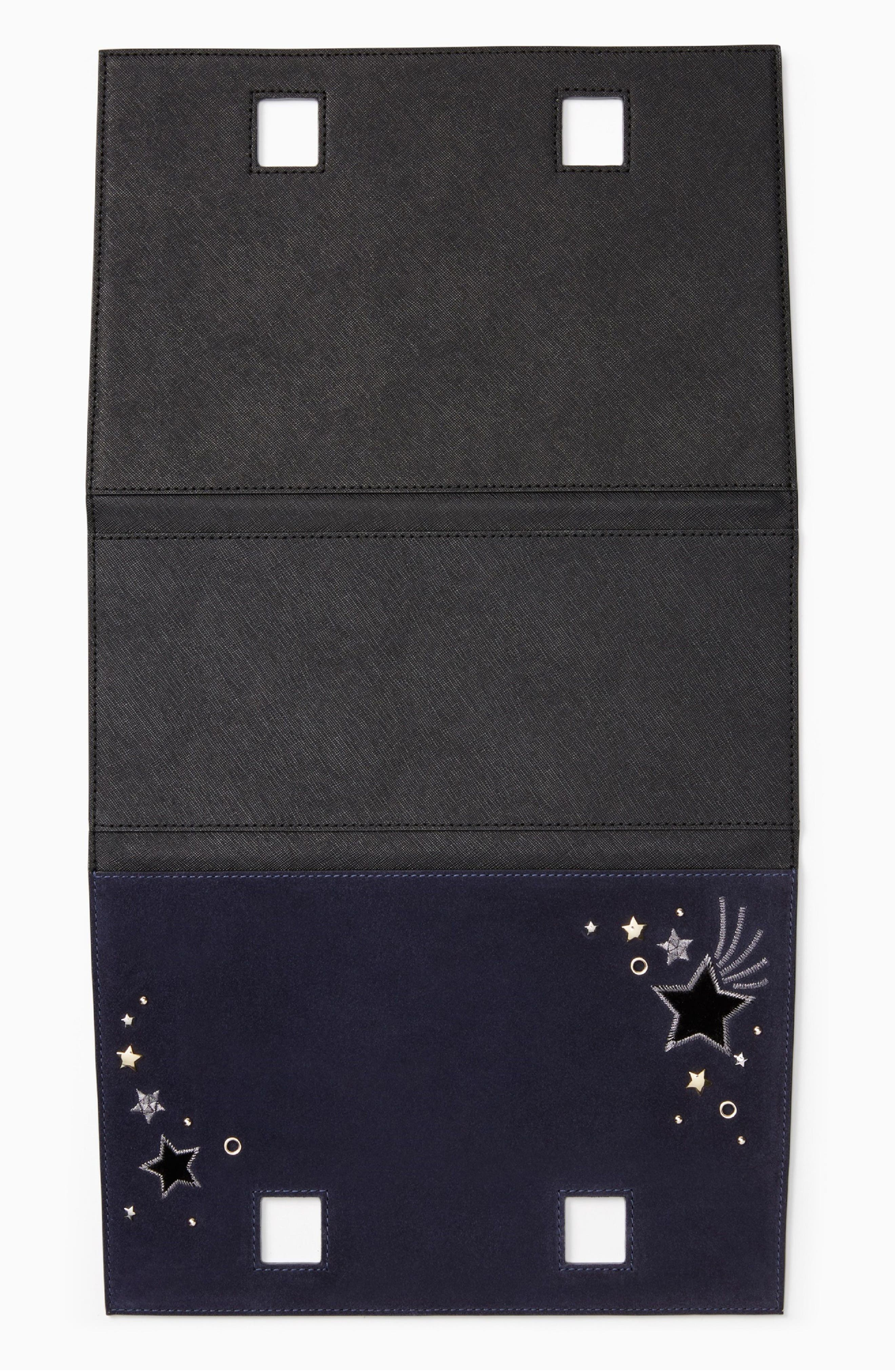 make it mine star embellished leather snap-on accent flap,                             Alternate thumbnail 2, color,                             400
