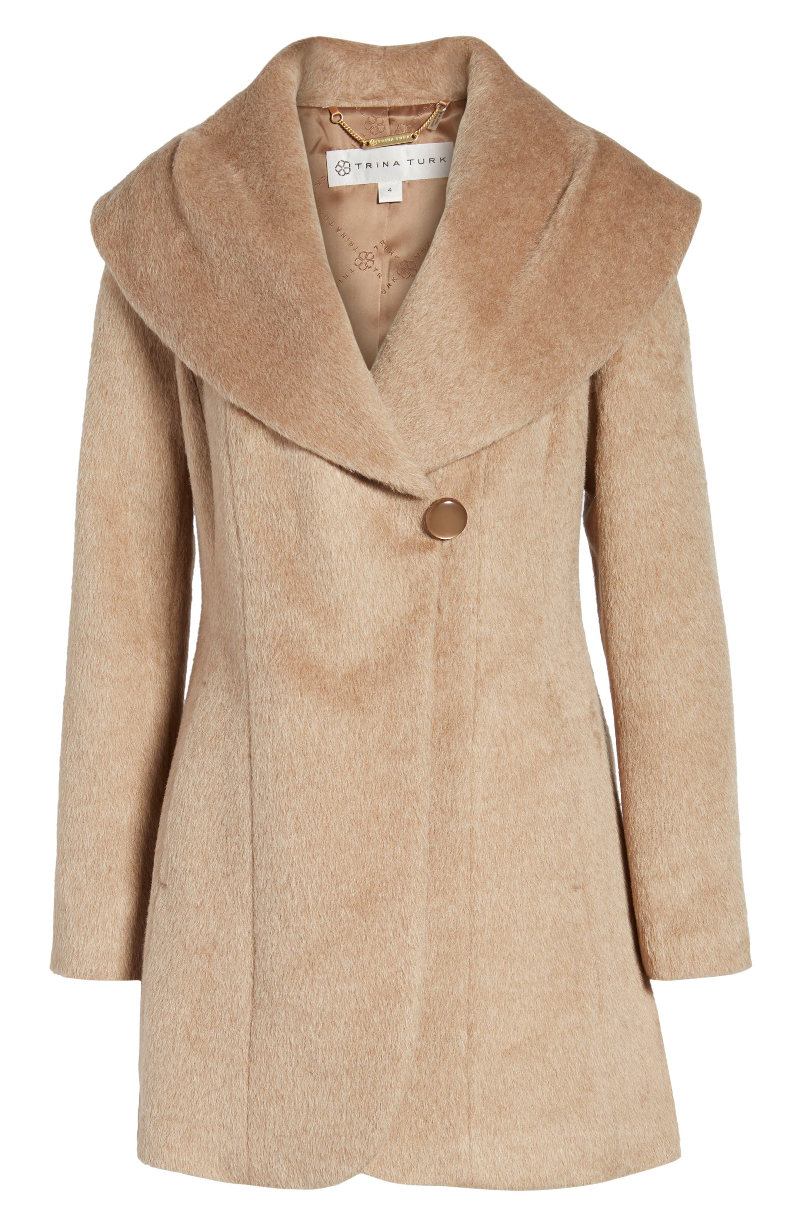 Jemma Shawl Collar Coat,                             Alternate thumbnail 5, color,                             255