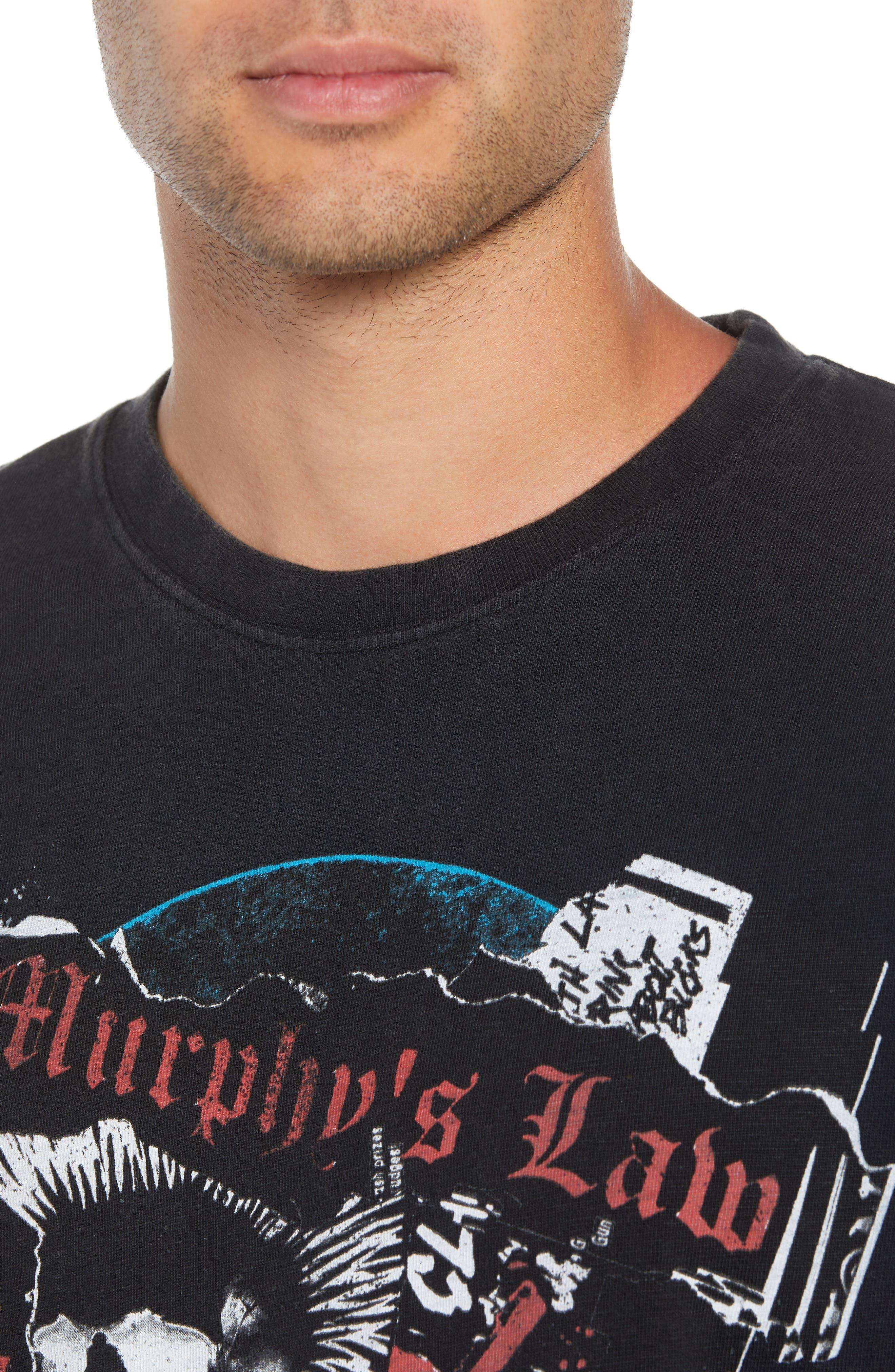 Murphy's Law Graphic T-Shirt,                             Alternate thumbnail 4, color,                             BLACK