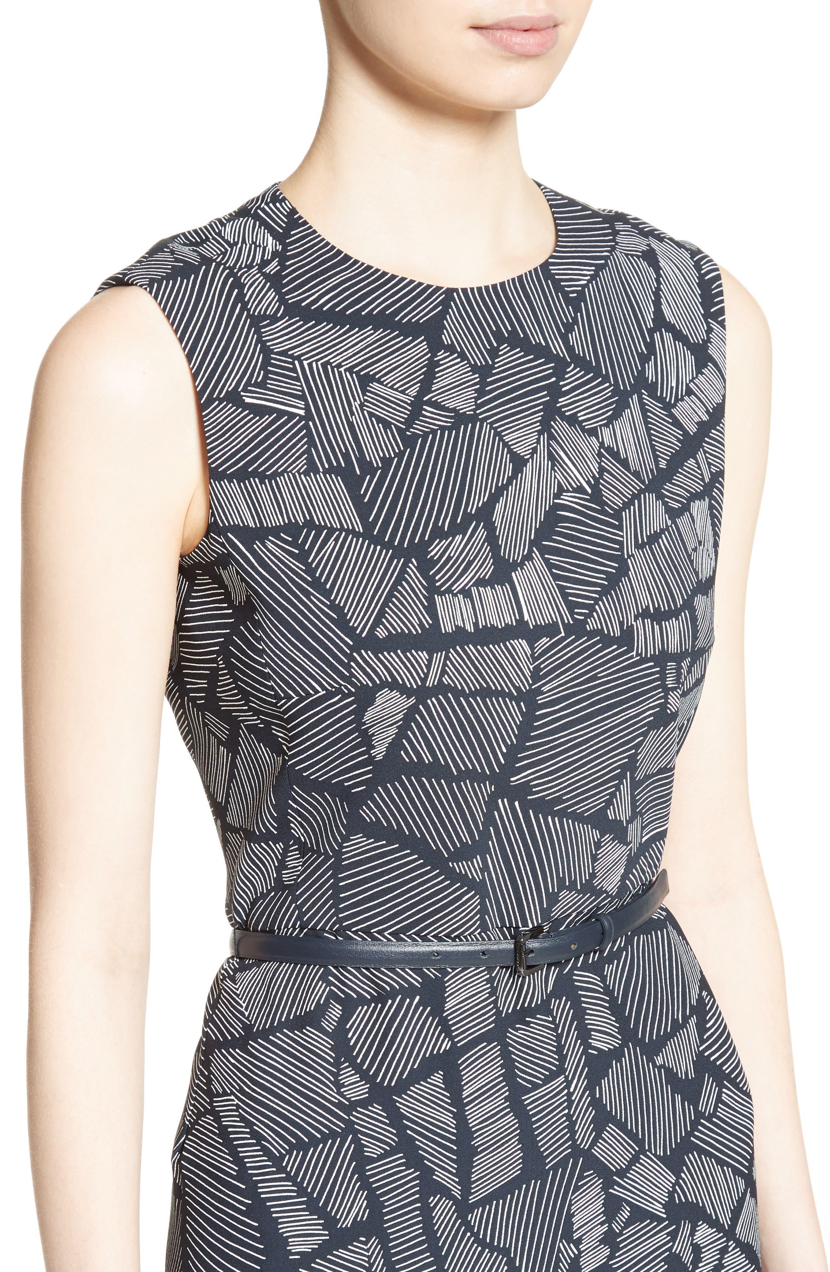 Jasmine Print Midi Dress,                             Alternate thumbnail 4, color,                             411
