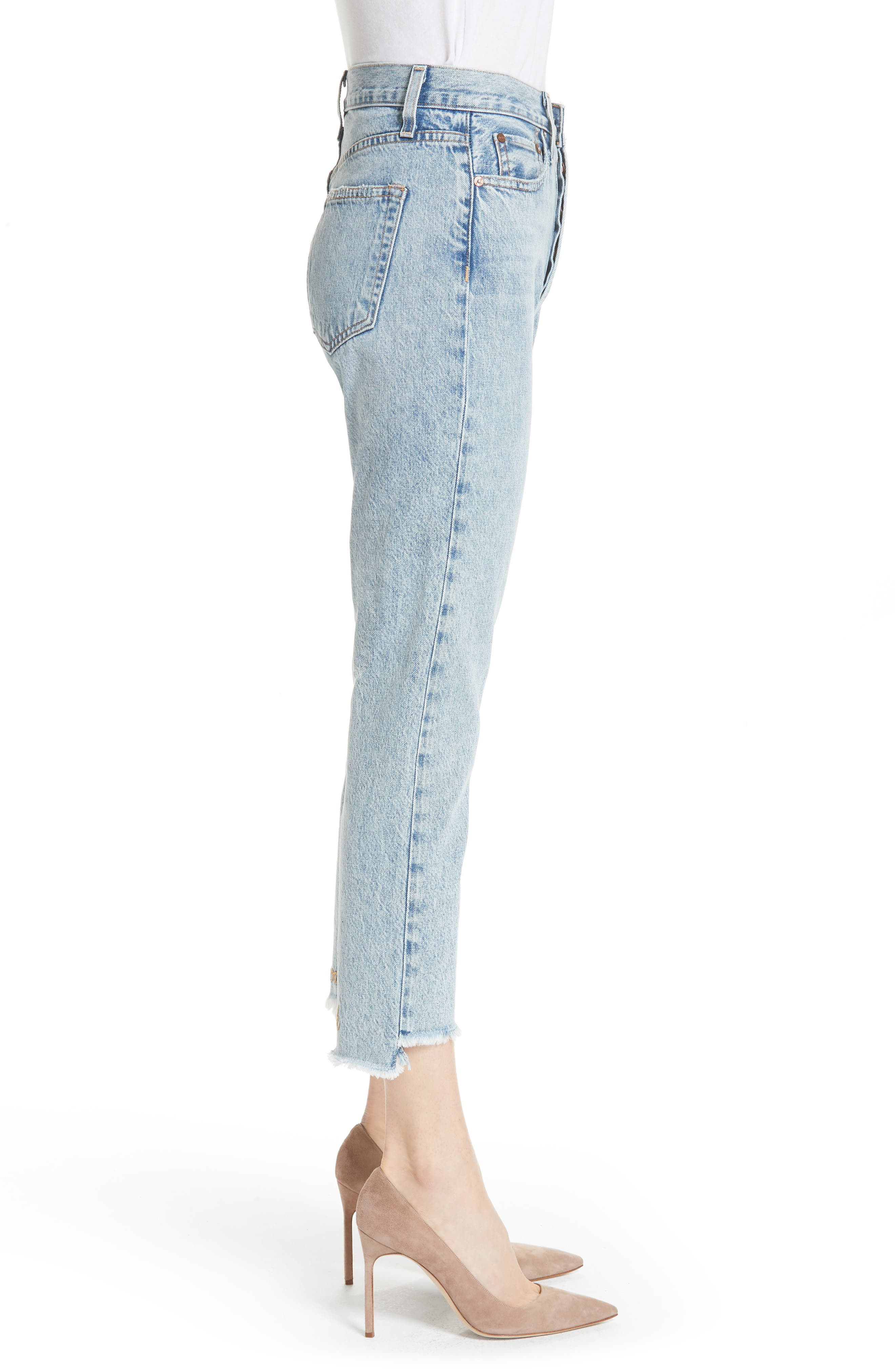 ALICE + OLIVIA JEANS,                             Amazing Good Luck Slim Girlfriend Jeans,                             Alternate thumbnail 3, color,                             490