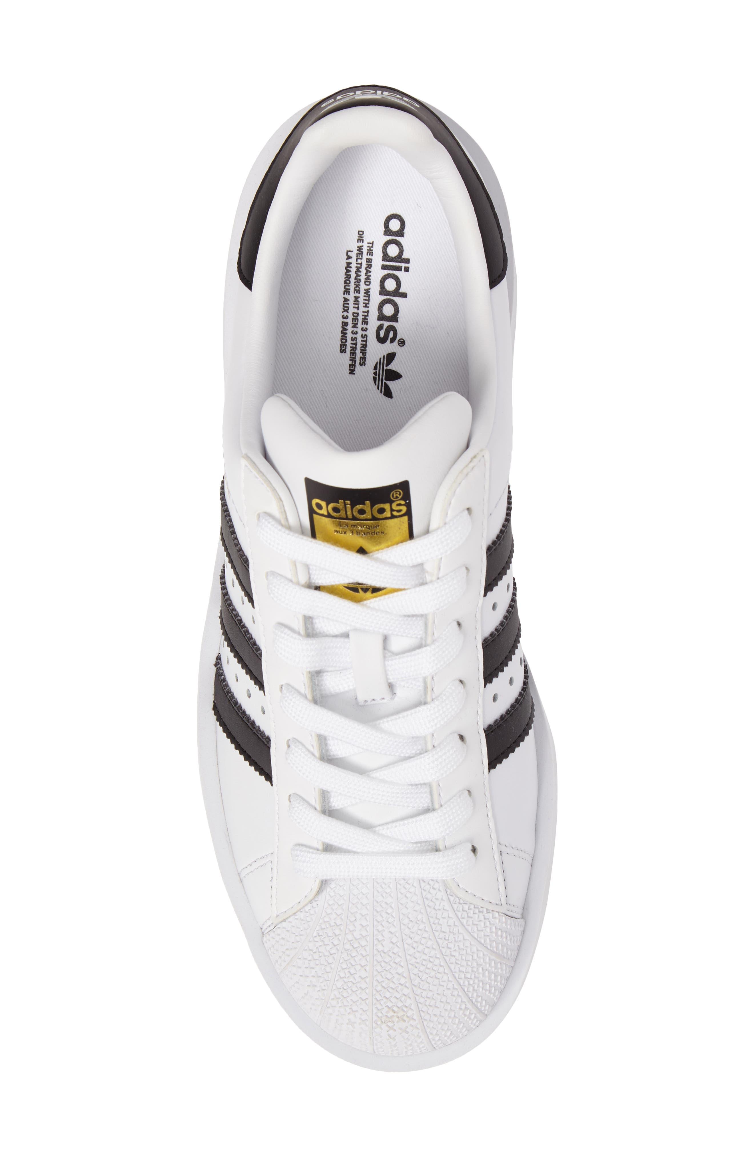 Superstar Bold Platform Sneaker,                             Alternate thumbnail 5, color,                             100