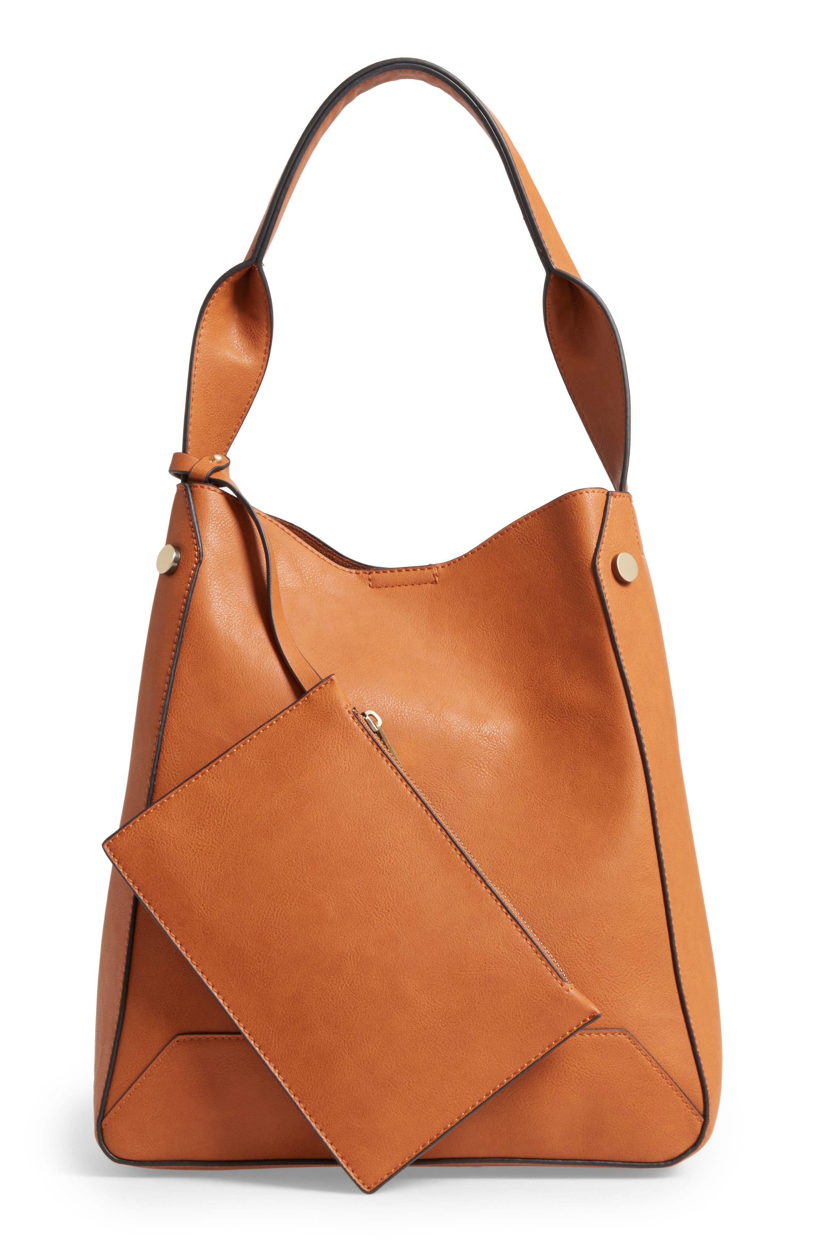 Alani Faux Leather Shoulder Bag,                             Alternate thumbnail 6, color,