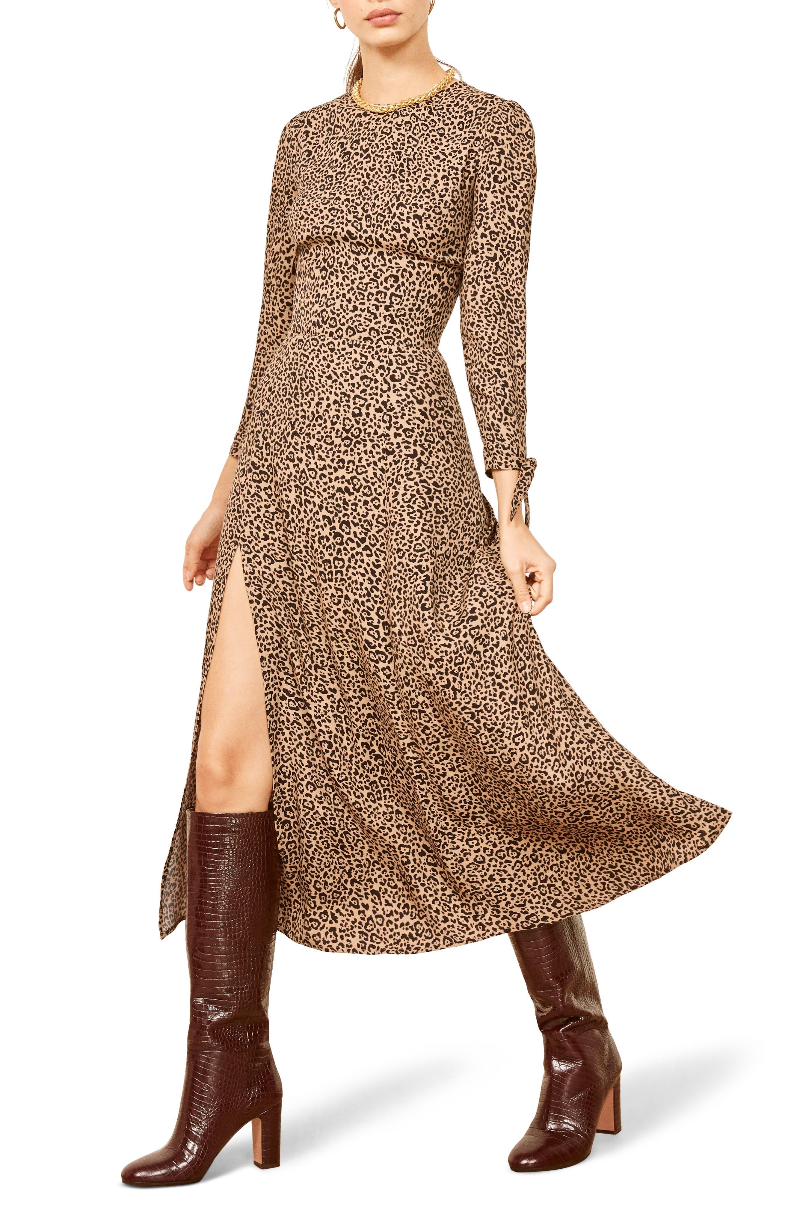 Zelda Double Slit Dress,                         Main,                         color, BENGAL