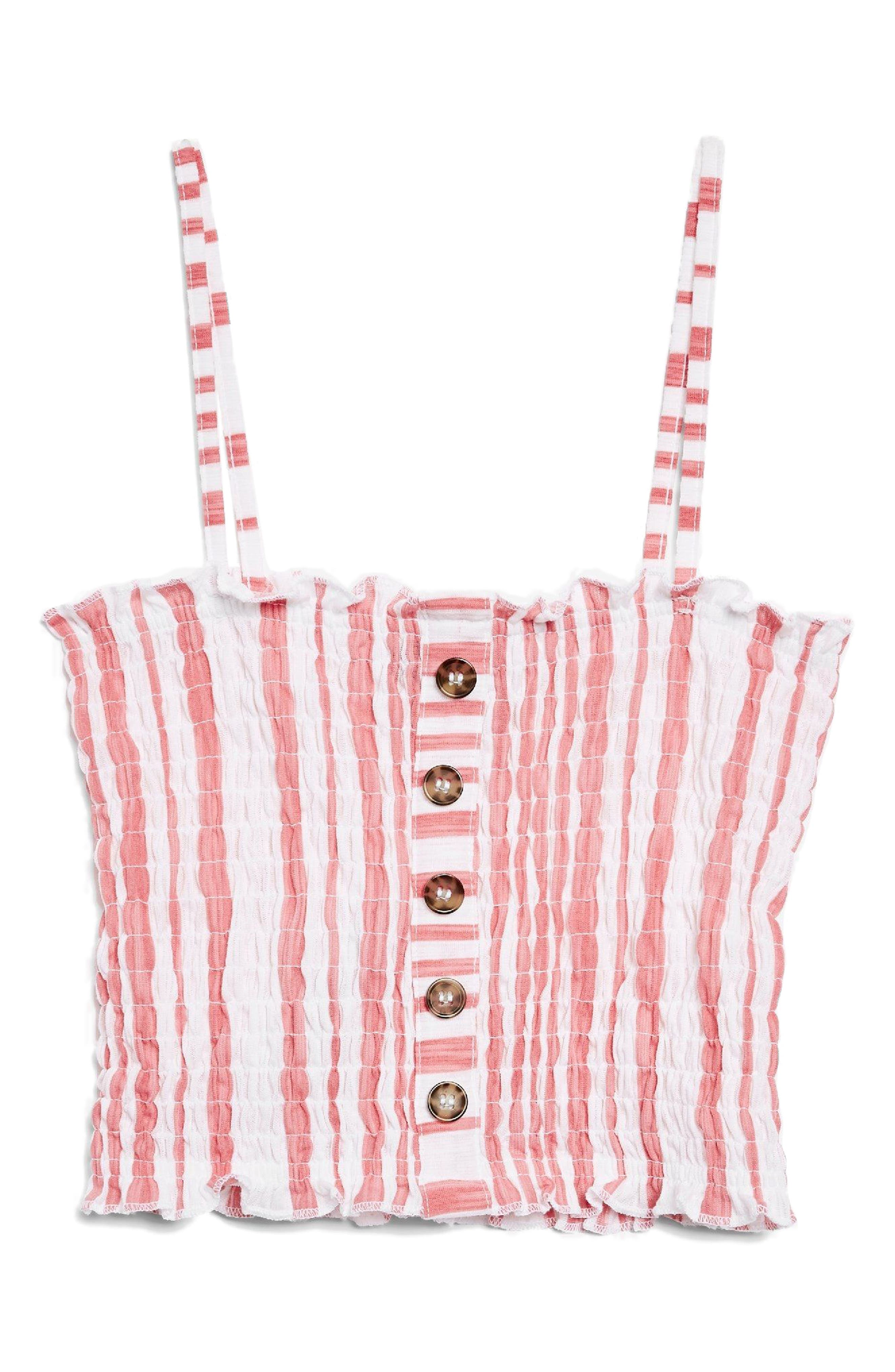 Smocked Button Top,                             Alternate thumbnail 6, color,