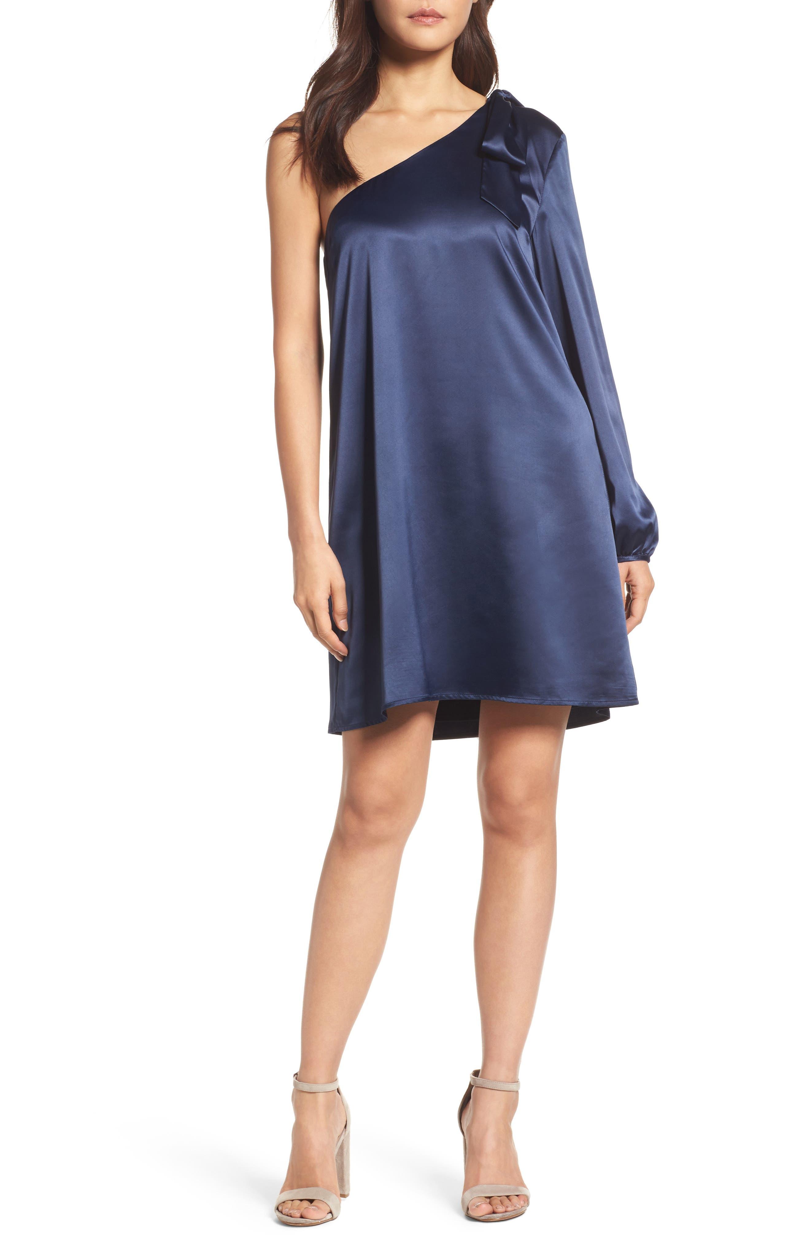 One-Sleeve Shift Dress,                         Main,                         color,