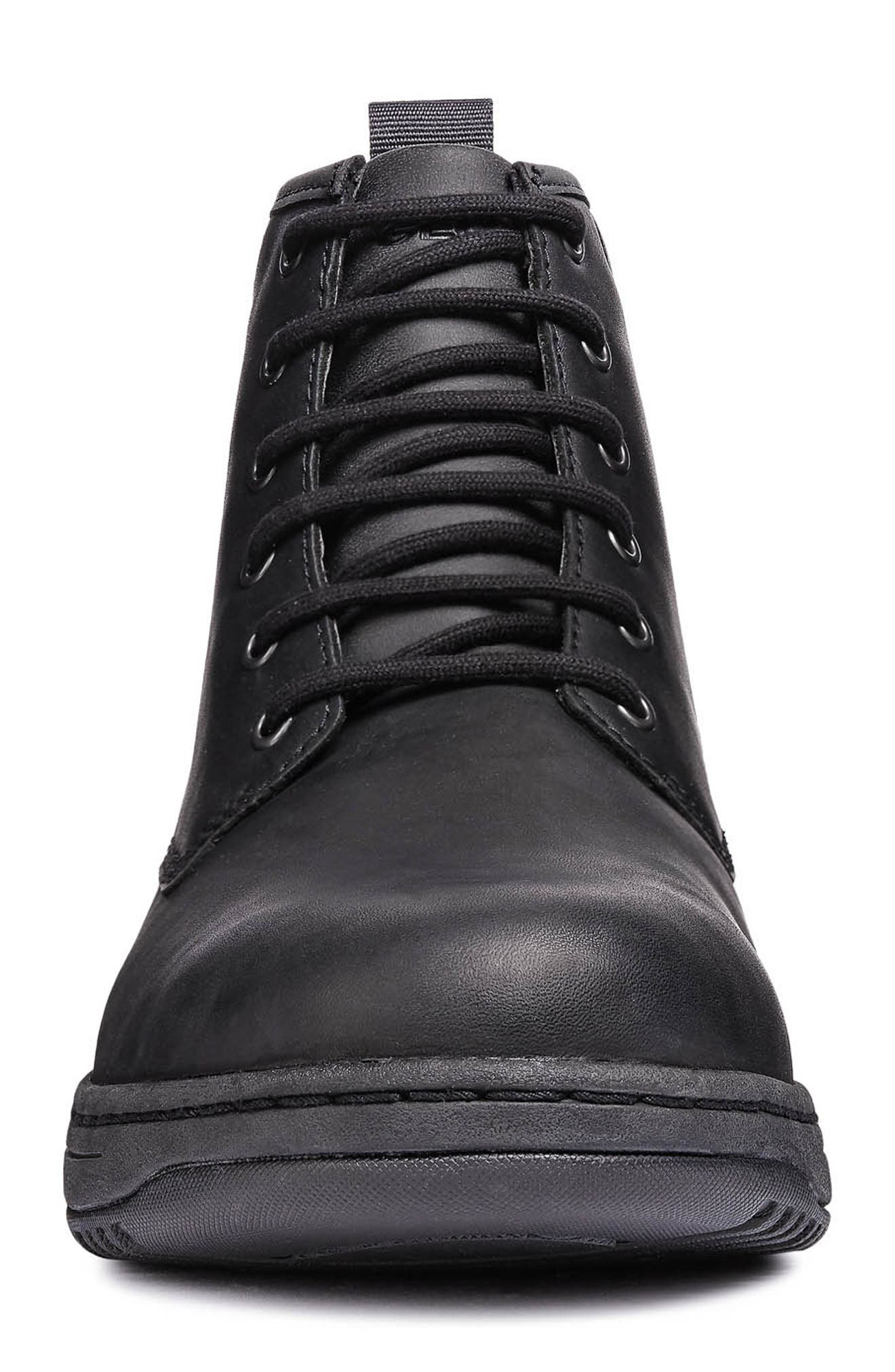 Abroad ABX 2 Tall Lace-Up Boot,                             Alternate thumbnail 4, color,                             BLACK