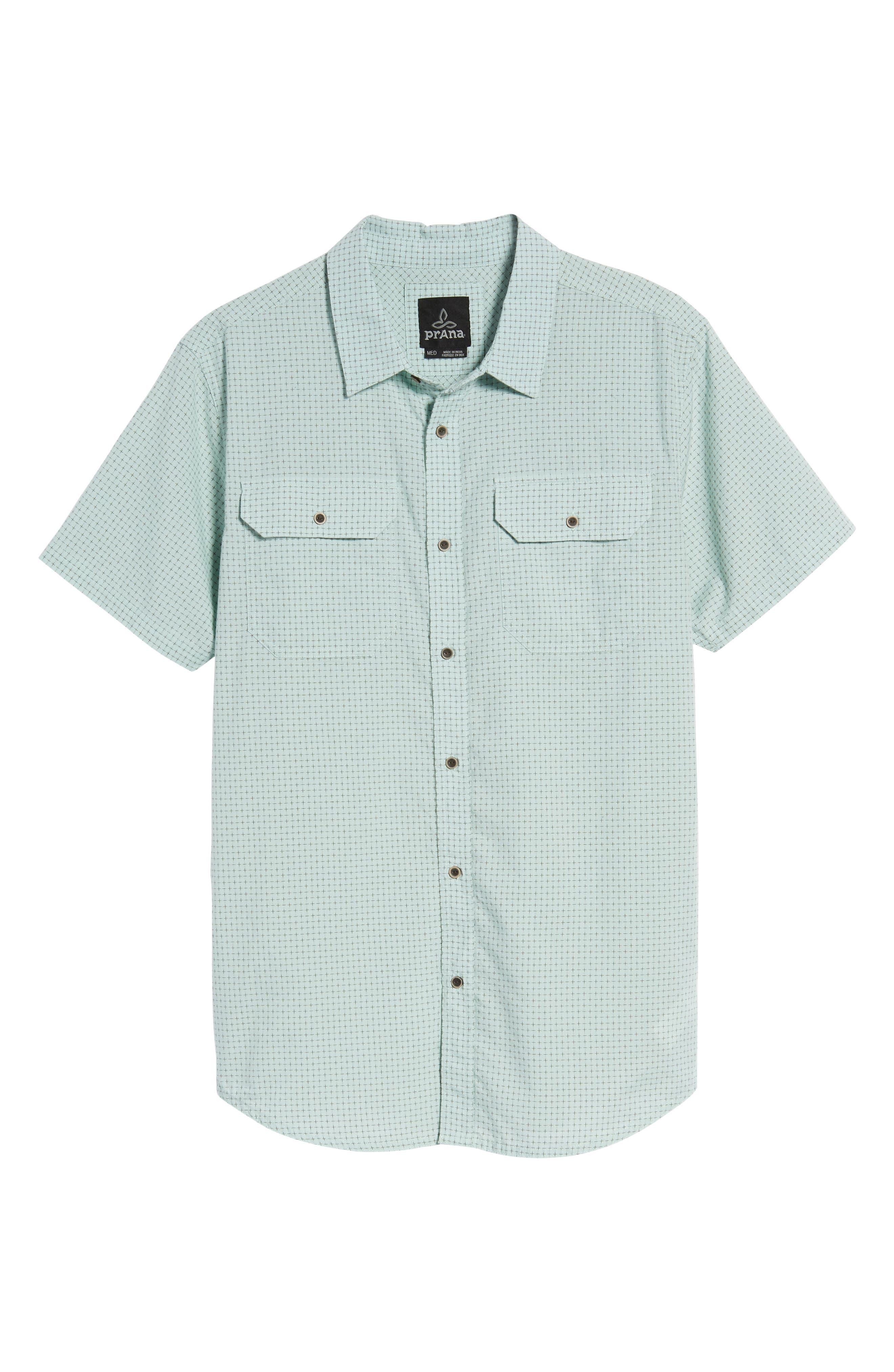Blakely Slim Fit Short Sleeve Sport Shirt,                             Alternate thumbnail 6, color,                             300