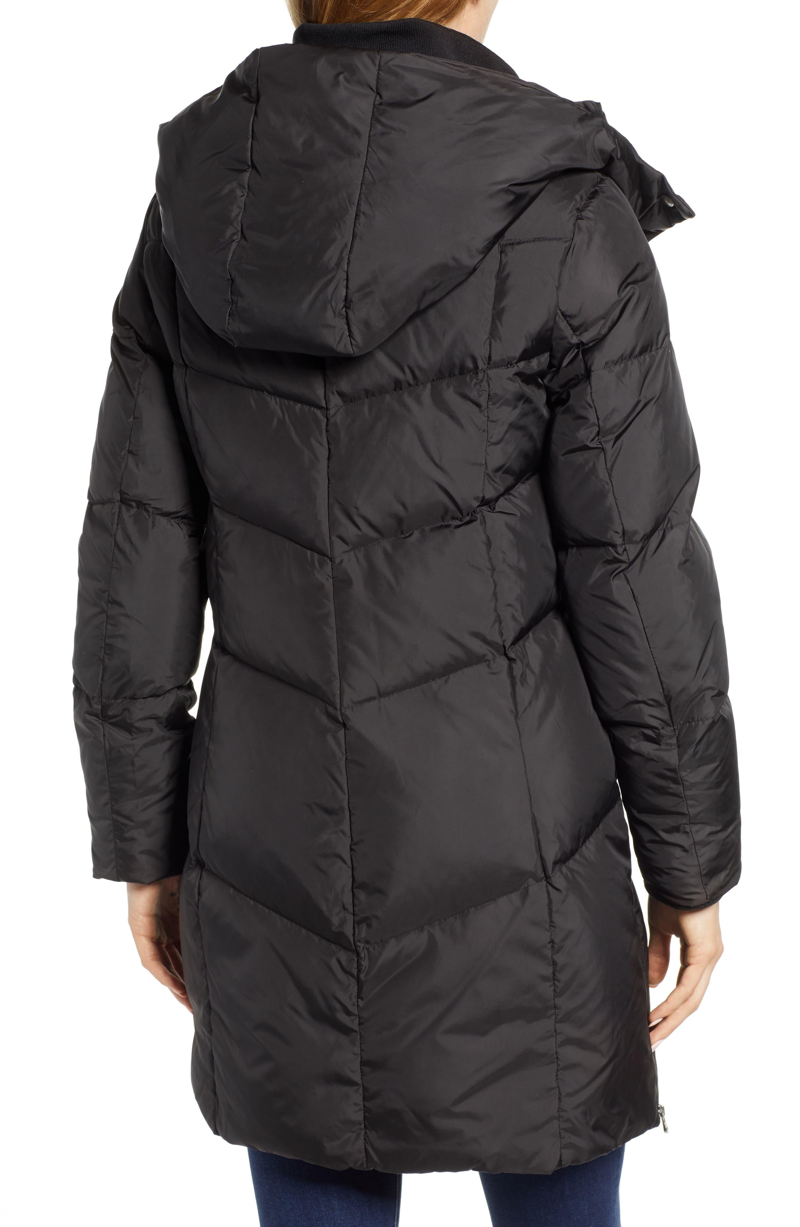 Essential Puffer Coat,                             Alternate thumbnail 2, color,                             BLACK