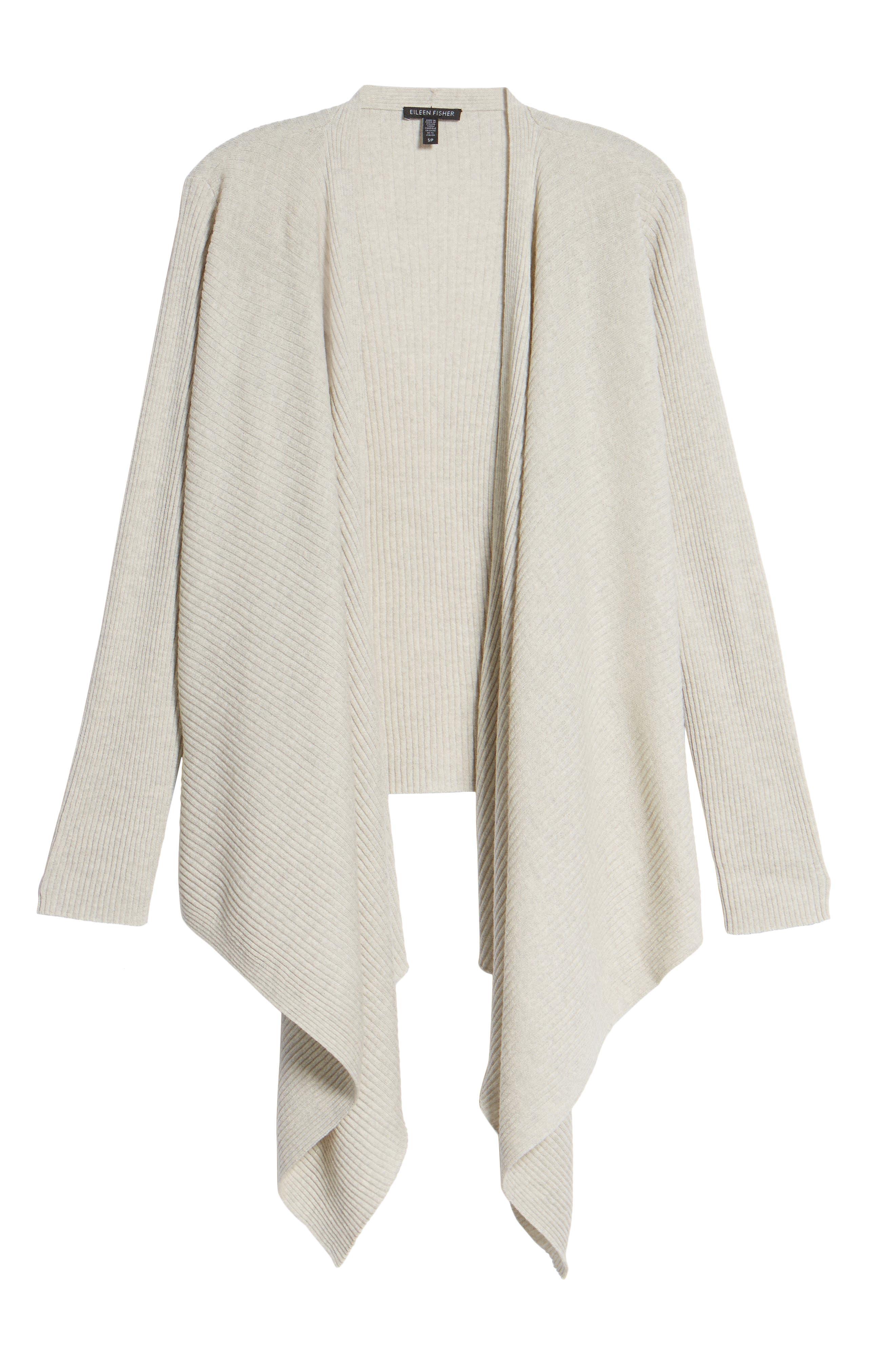 Drape Front Wool Cardigan,                             Alternate thumbnail 17, color,
