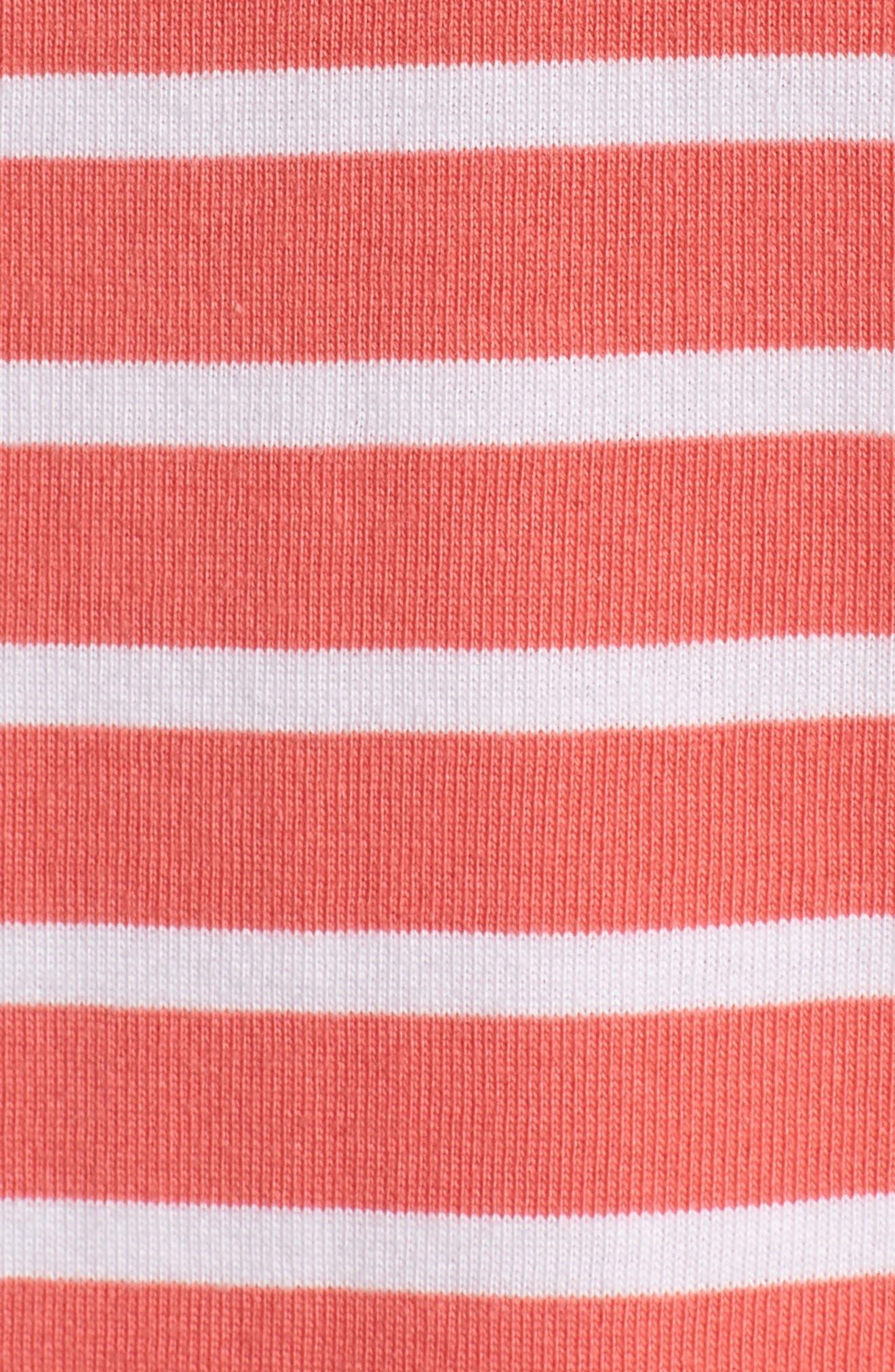 Stripe Cotton Knit Shift Dress,                             Alternate thumbnail 6, color,                             958