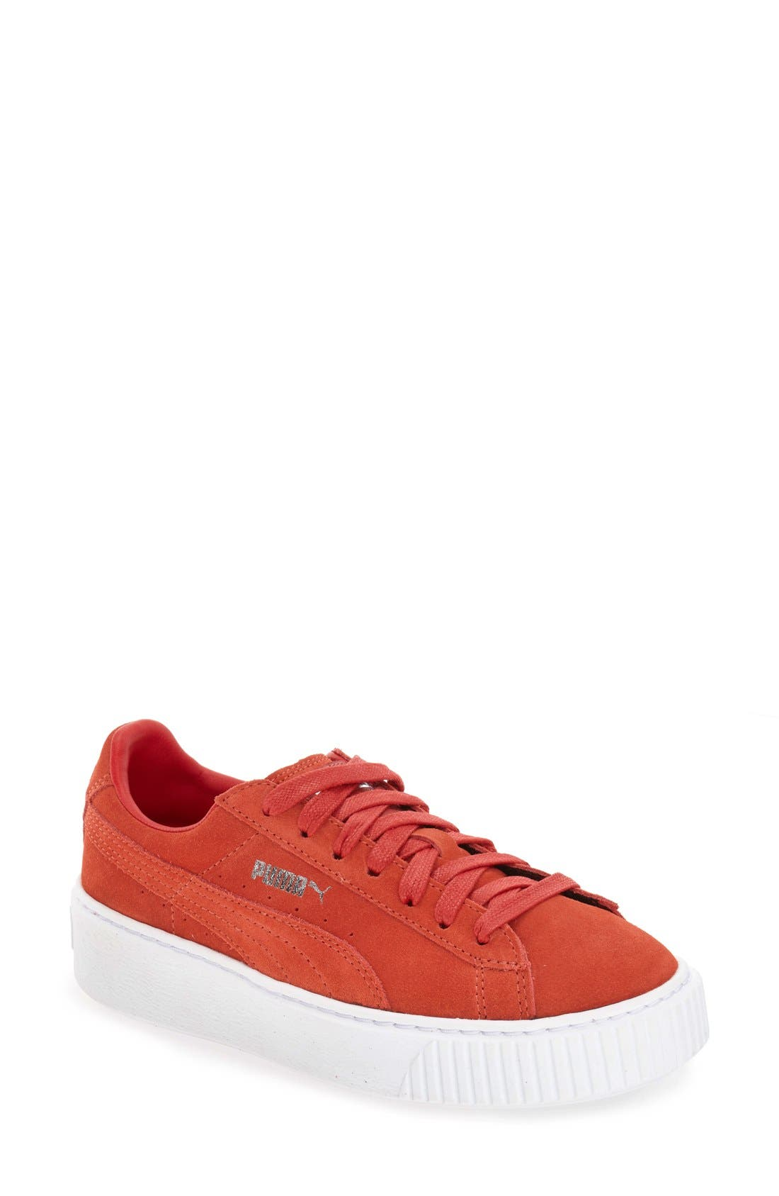 Suede Platform Sneaker,                             Main thumbnail 6, color,