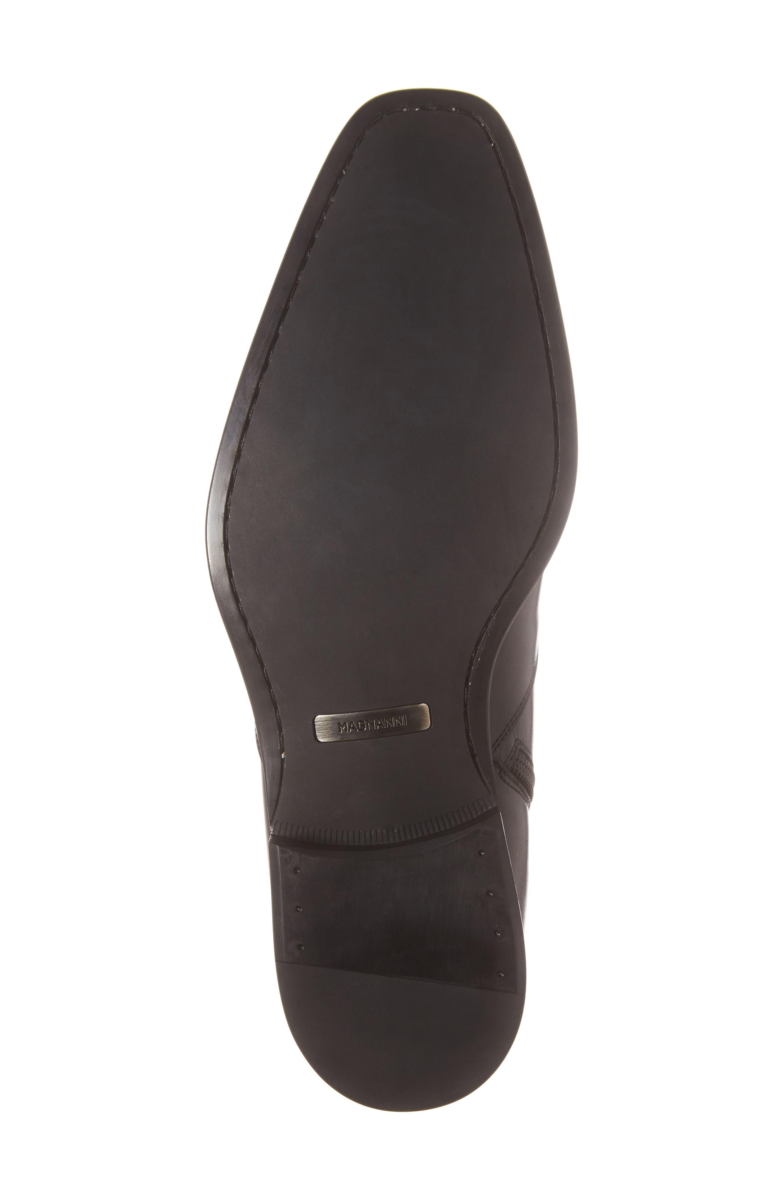 Rosdale Zip Boot,                             Alternate thumbnail 6, color,                             BLACK LEATHER