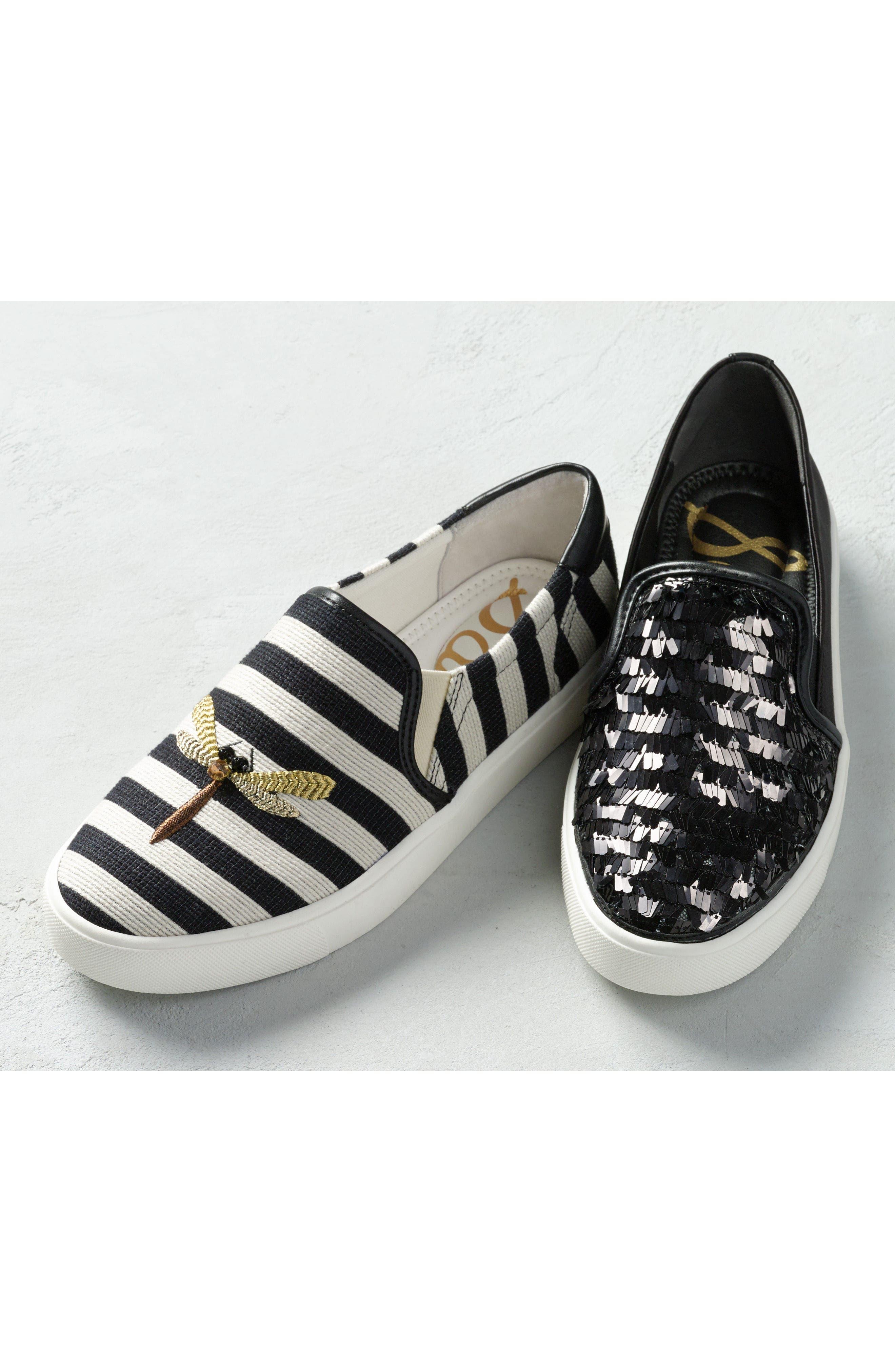 Elton Slip-On Sneaker,                             Alternate thumbnail 10, color,                             BLACK SUEDE LEATHER