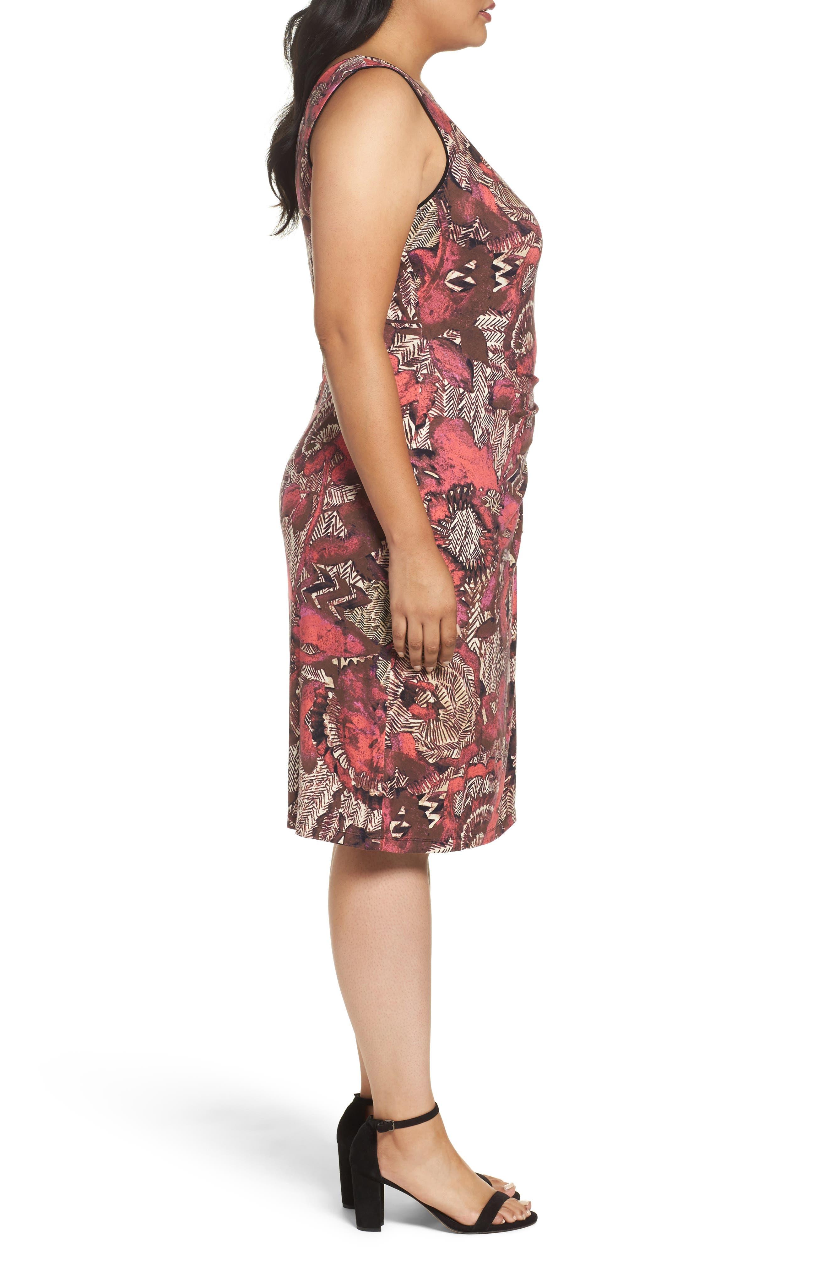 Etched Floral Dress,                             Alternate thumbnail 3, color,                             MULTI
